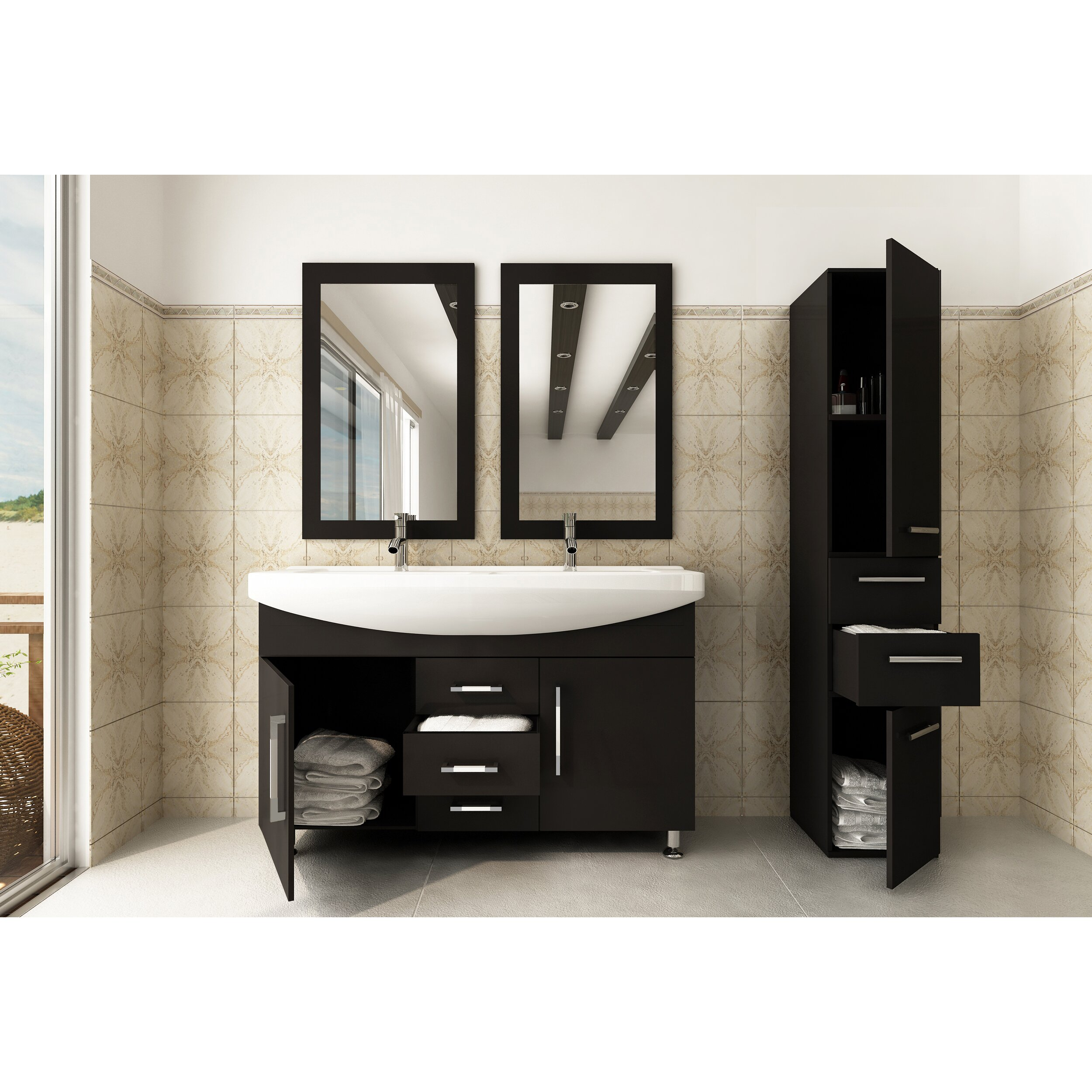 Double bathroom vanity - Jwh Living Celine 48 Quot Double Bathroom Vanity Set