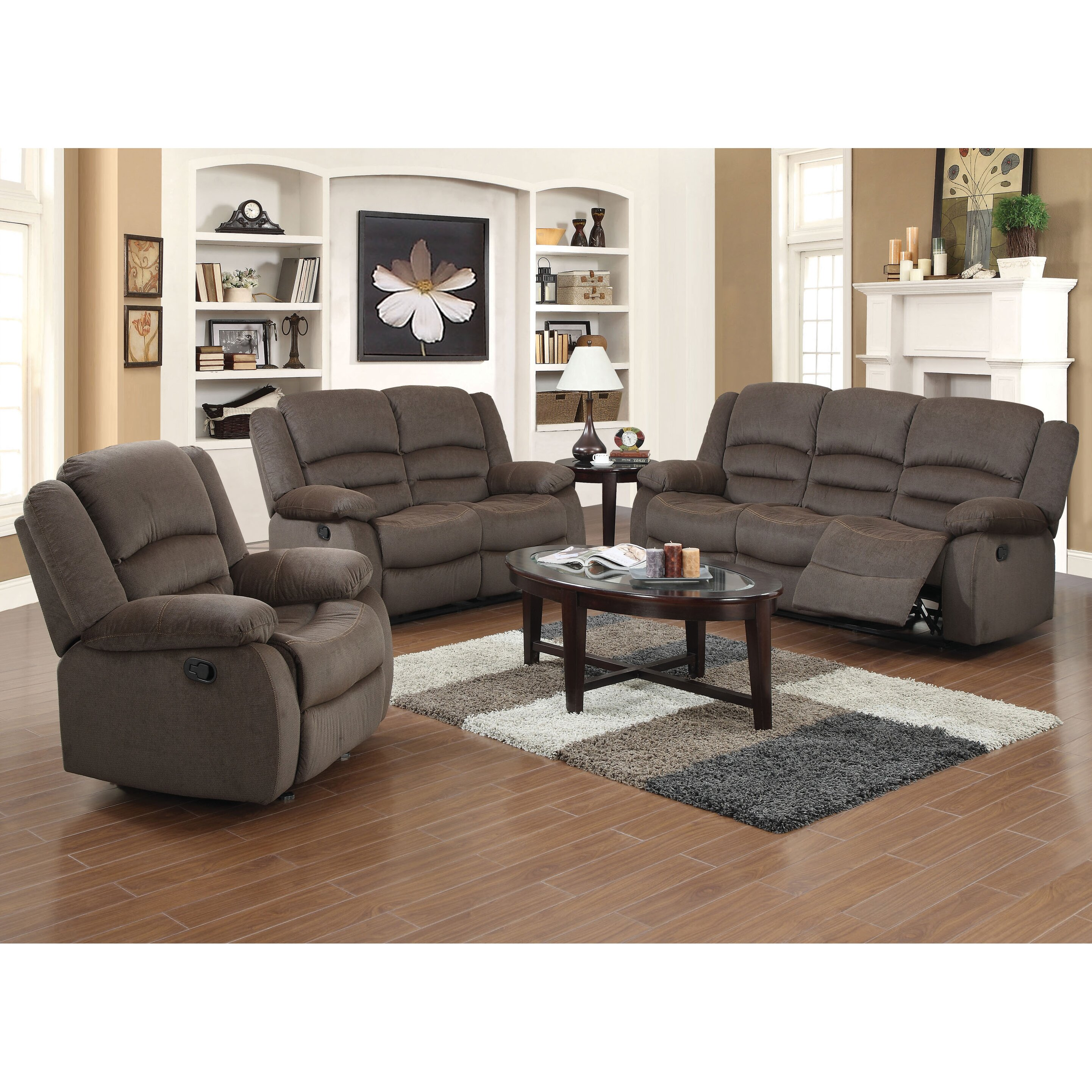 Container 3 Piece Recliner Sofa Set & Reviews