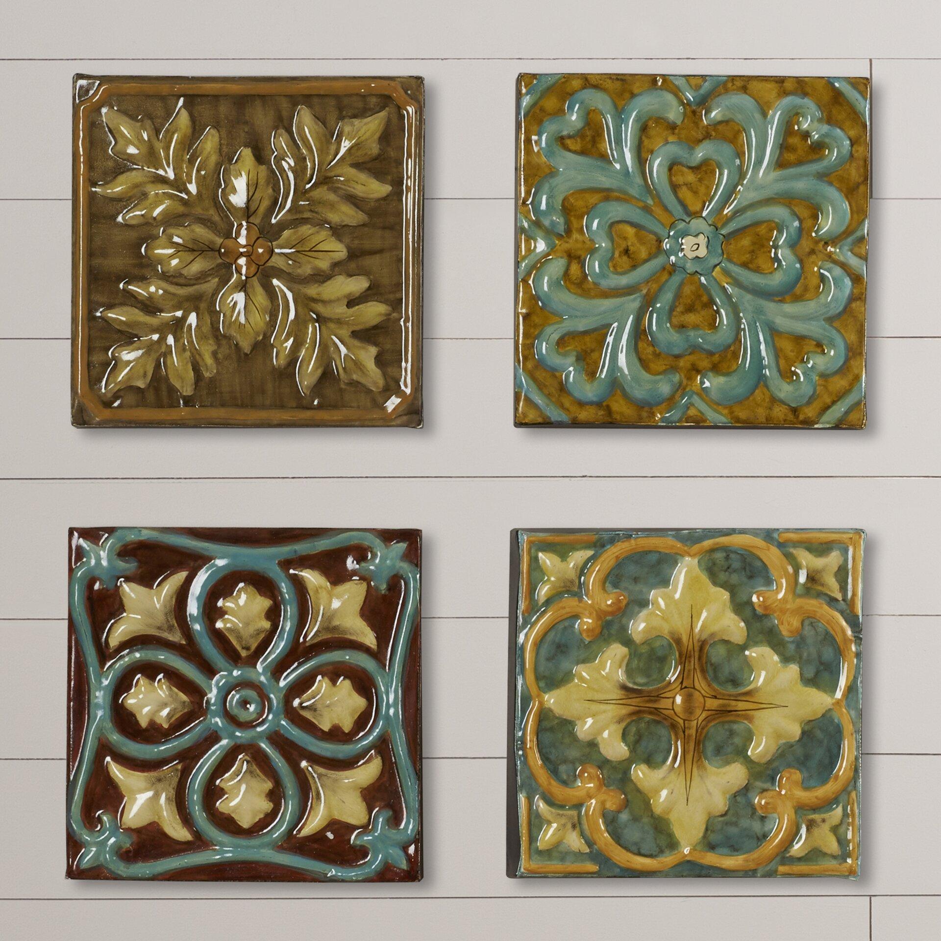 Bronze Wall Decor August Grove Melina Medallion Tile Wall Dccor Reviews Wayfair