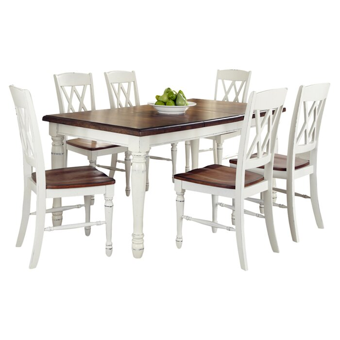 august grove shyanne 7 piece dining set & reviews | wayfair