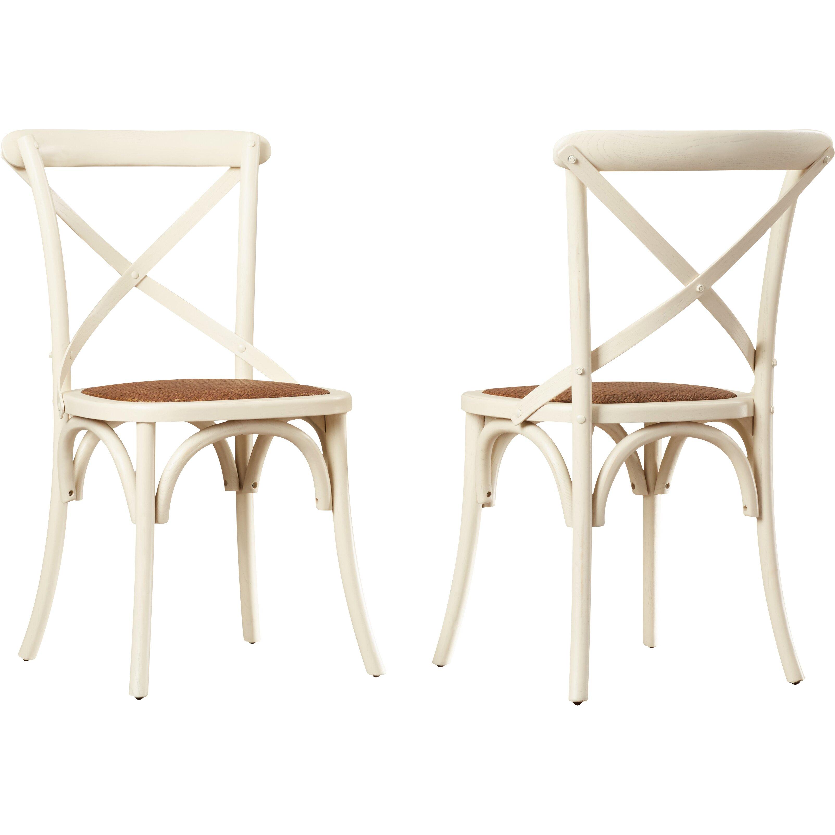 August Grove Essie Cross Back Side Chair Amp Reviews Wayfair