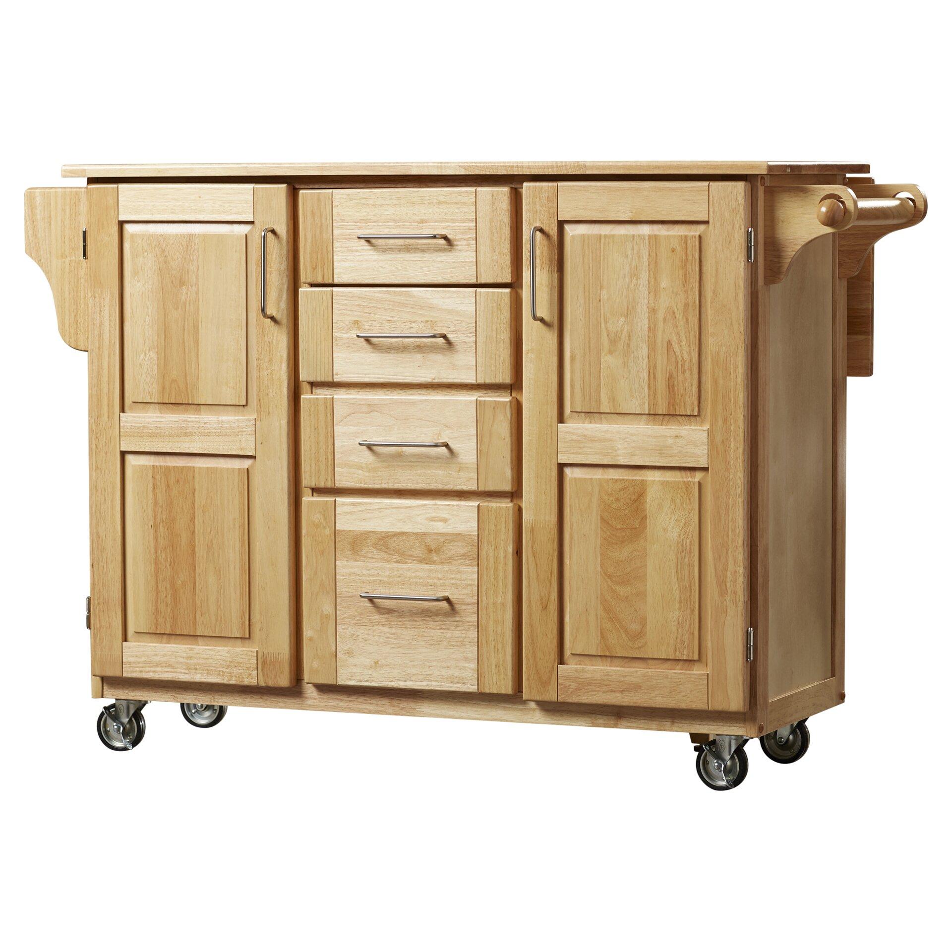 august grove killdeer kitchen island with wood top & reviews   wayfair