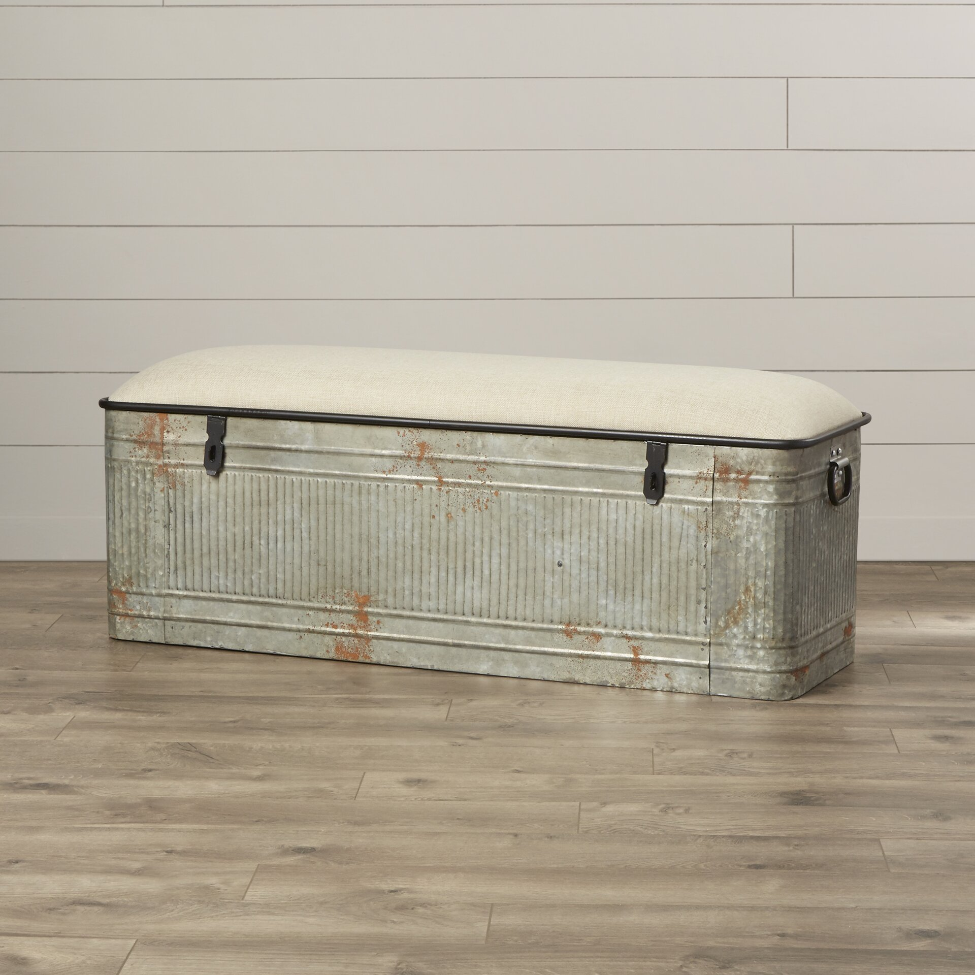 Metal Bedroom Bench August Grove Dublin Metal Storage Bedroom Bench Reviews Wayfair