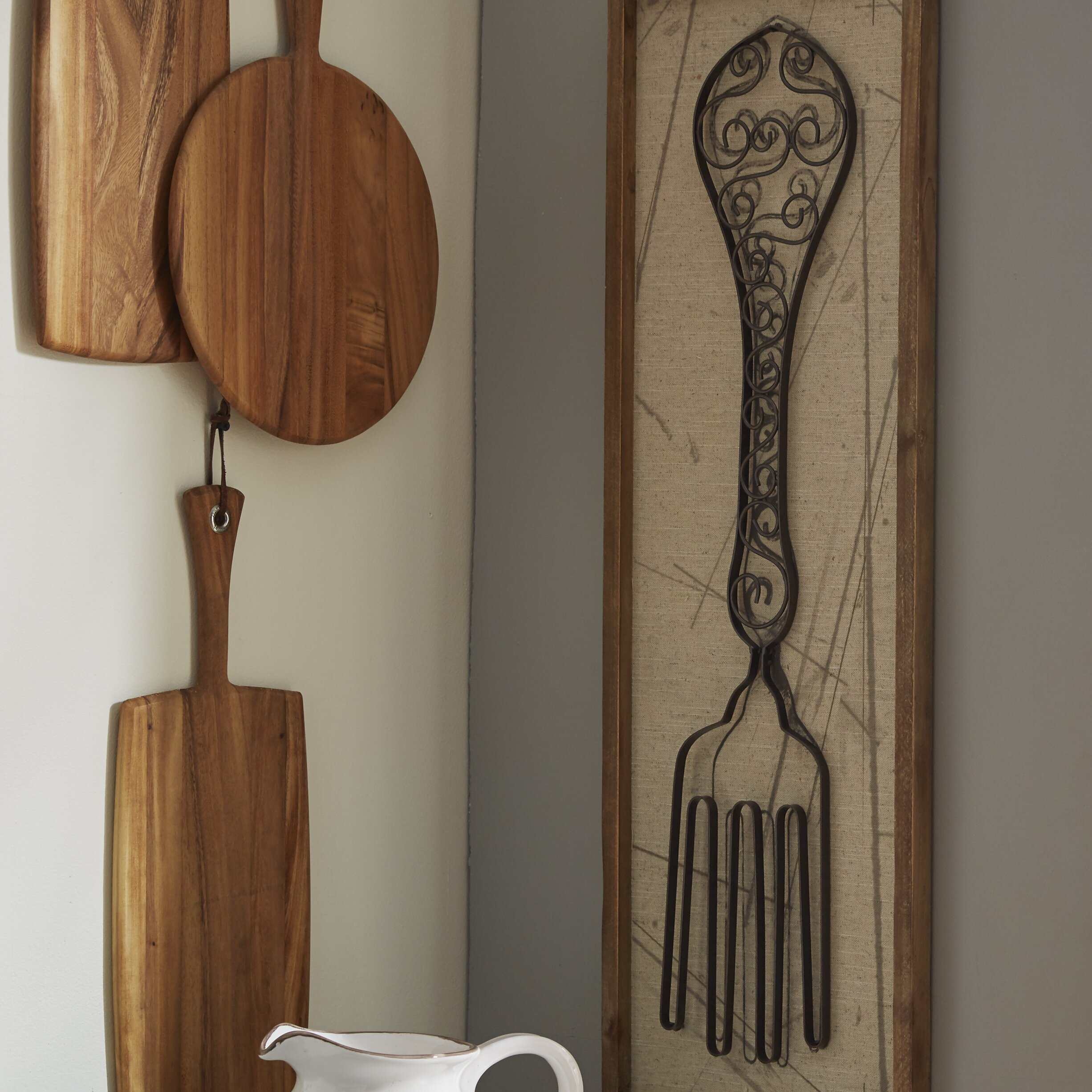 August Grove Reg Superior 2 Piece Spoon And Fork Wall D Eacute
