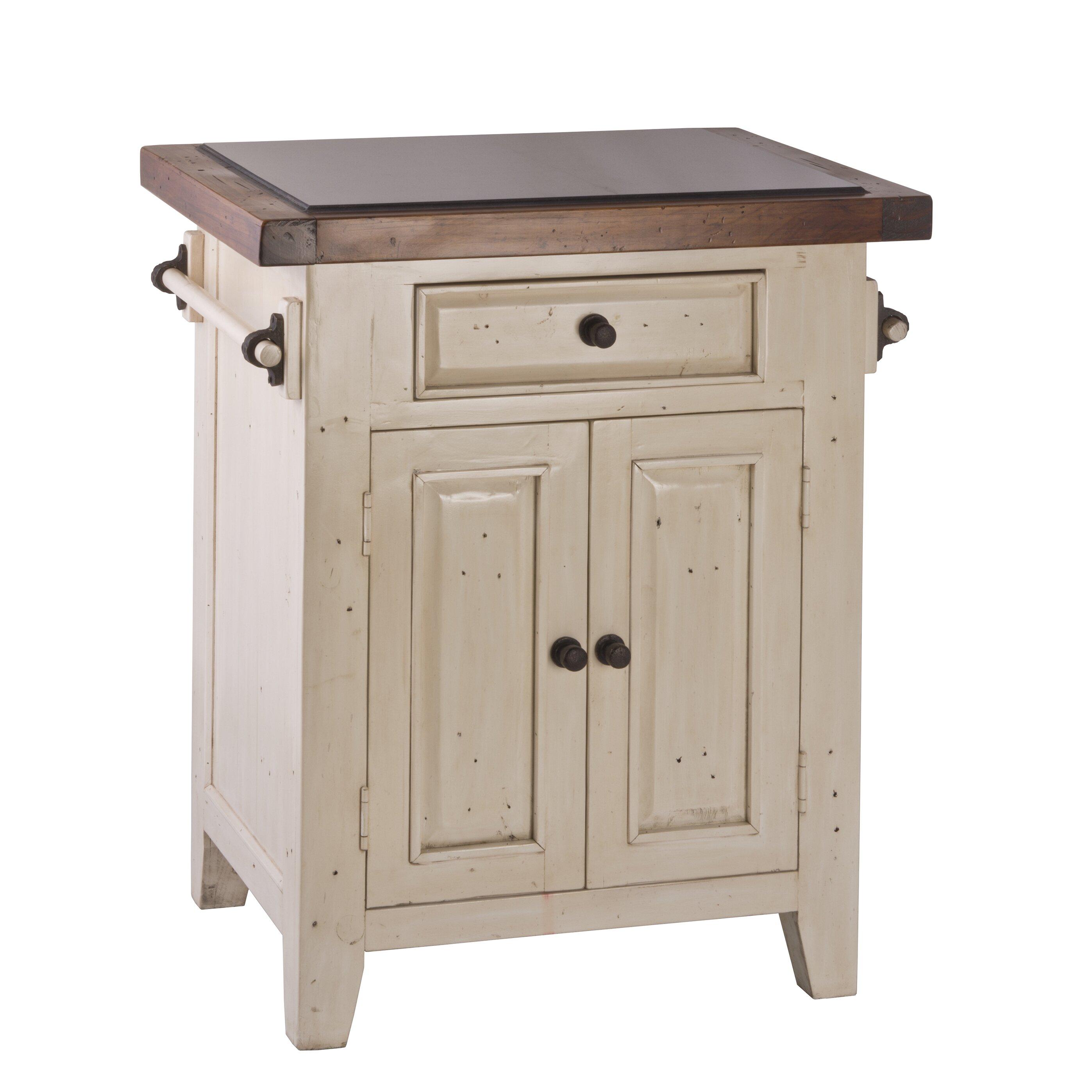 Kitchen Cart Granite August Grove Lavedan Kitchen Cart With Granite Top Reviews Wayfair