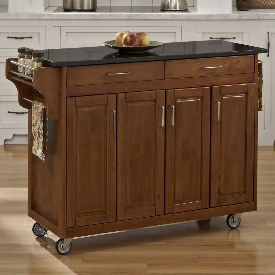 Kitchen Island With Granite Top: August Grove Regiene Kitchen Island With Granite Top