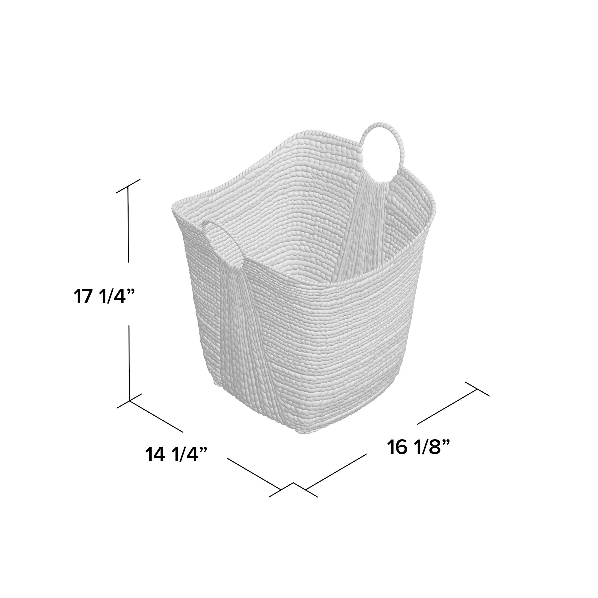 White wicker baskets with handle - August Grove Reg Theroux Tall Water Hyacinth Wicker Basket With Handles