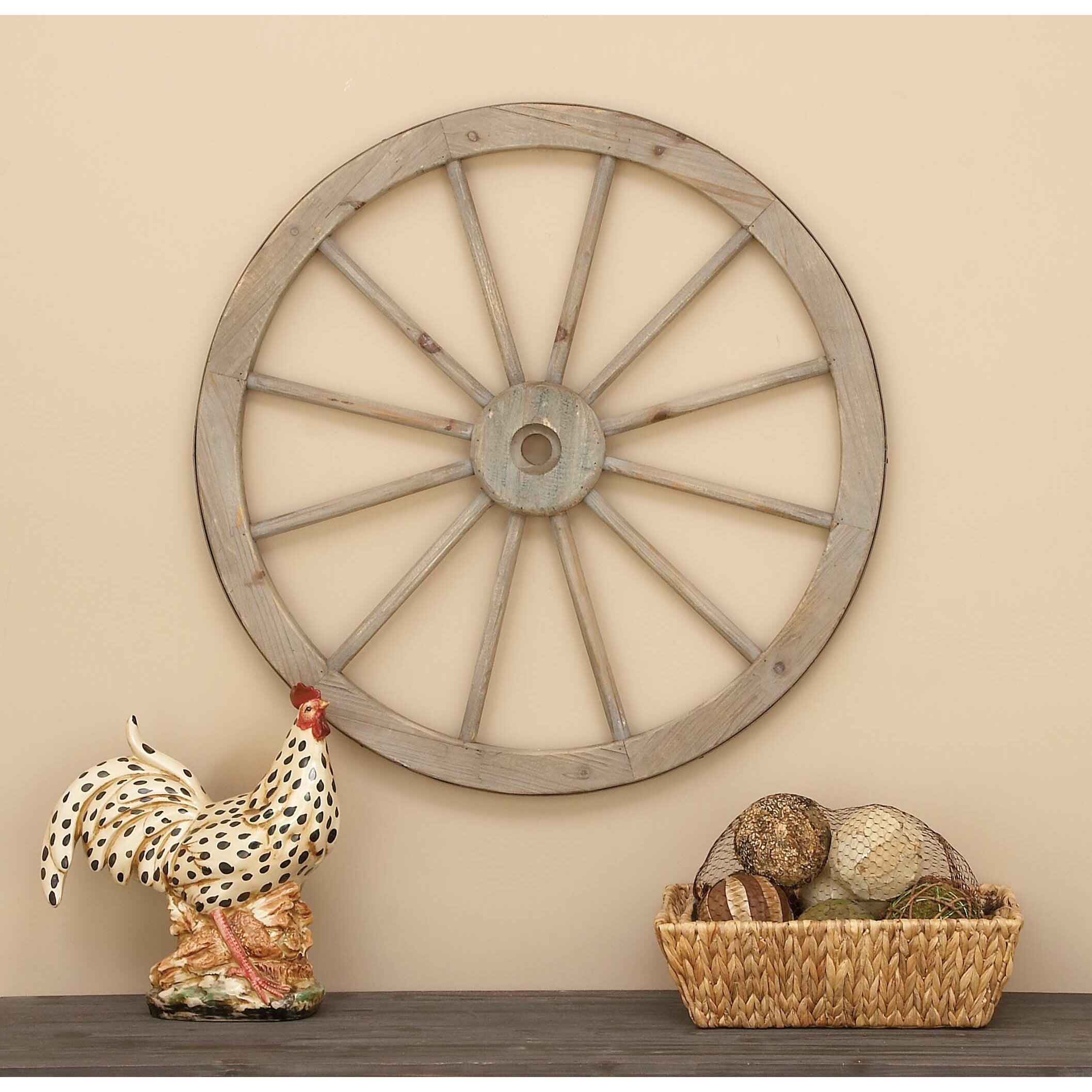 Home With August Grove Metal Wagon Wheel Wall Decor Reviews Wayfair