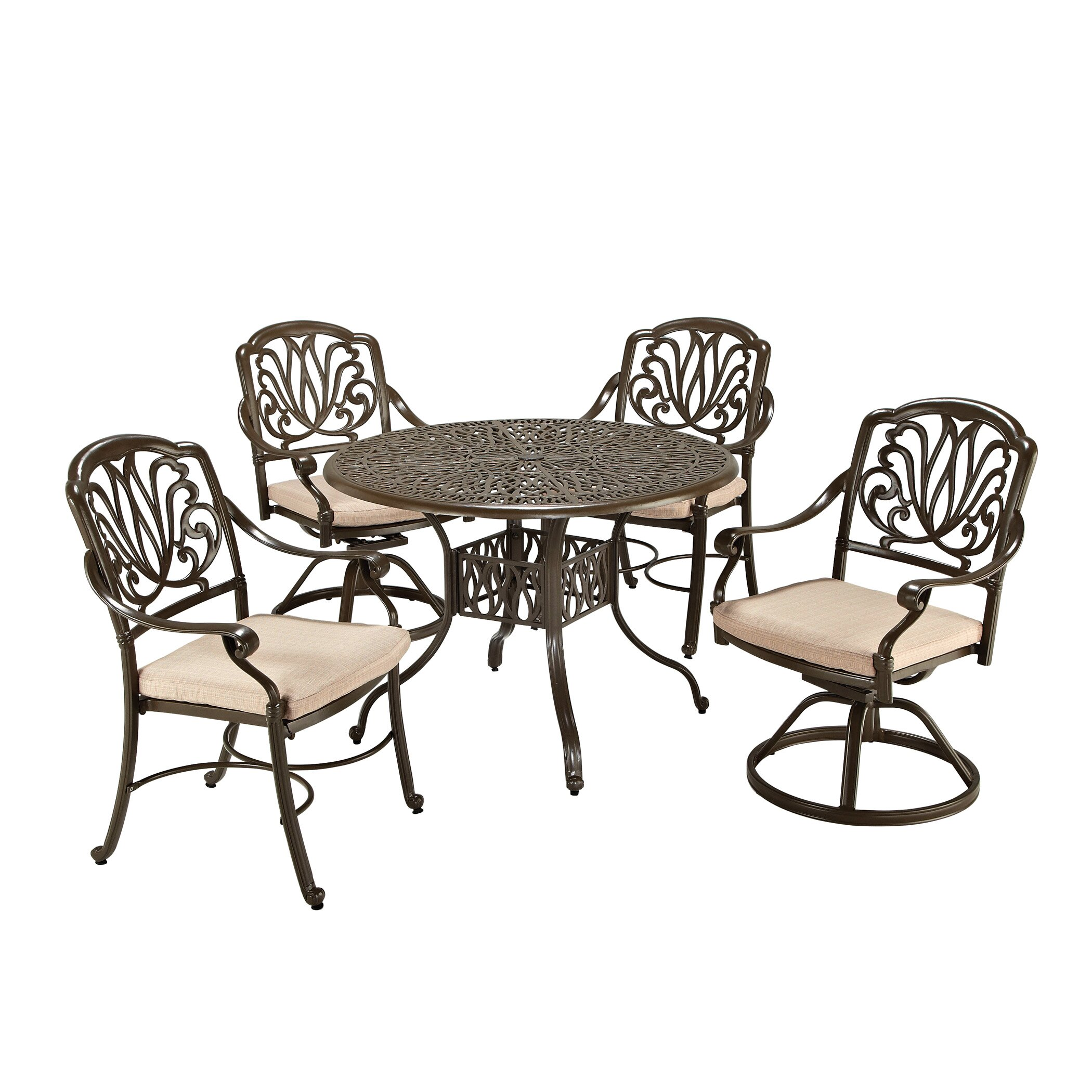 Very Impressive portraiture of One Allium Way Regent 5 Piece Dining Set with Cushions & Reviews  with #372C21 color and 2100x2100 pixels