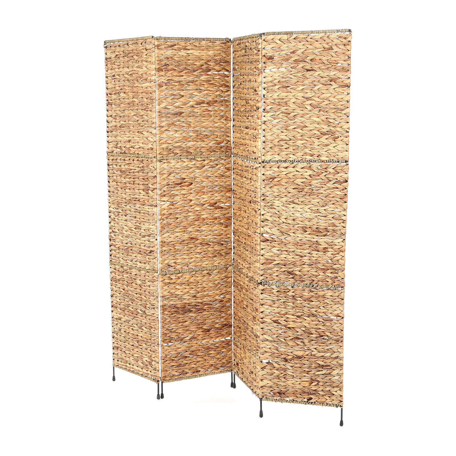Free standing wall divider - Castine 67 X 60 Folding Screen 4 Panel Room Divider