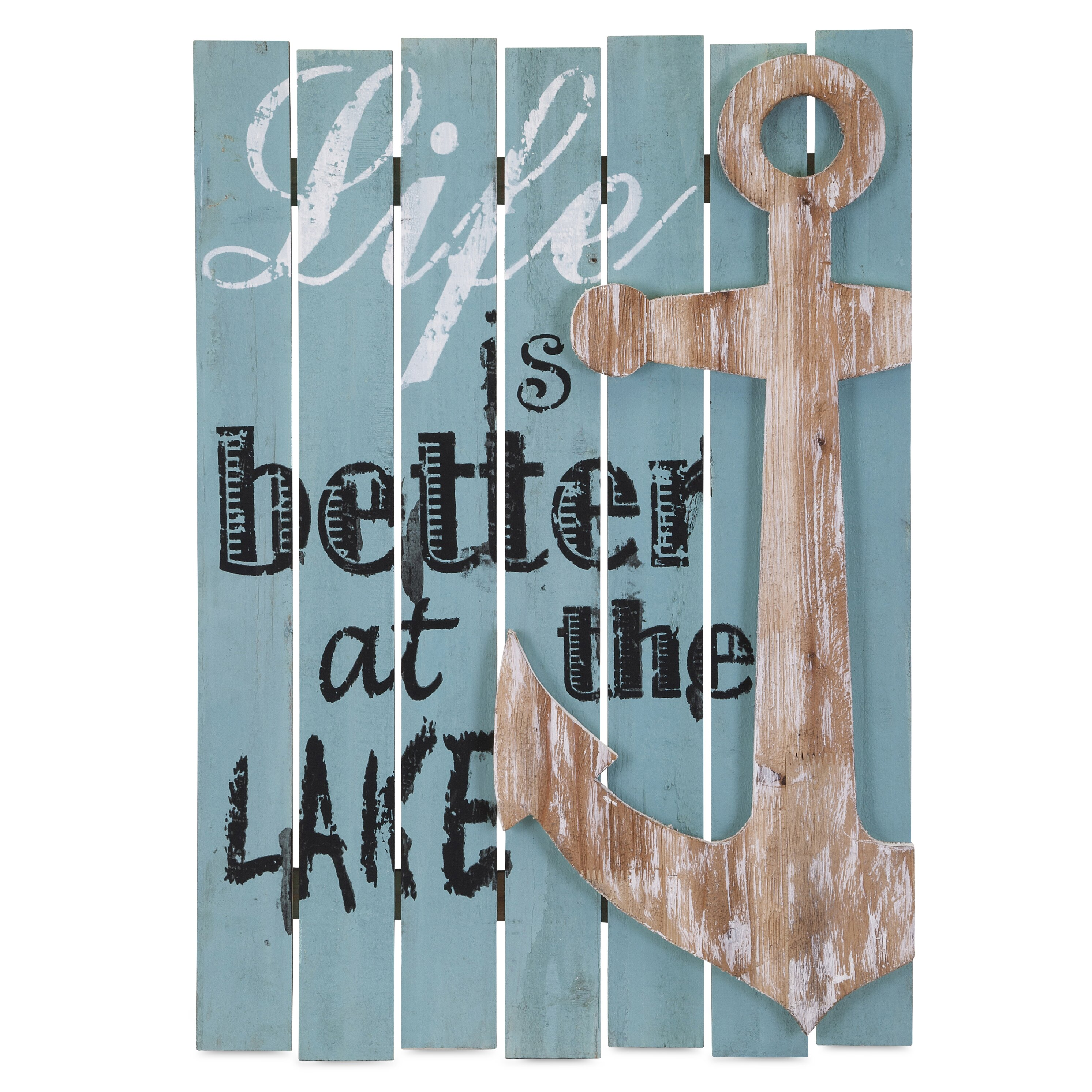 Beachcrest Home Better At The Lake Wall Decor Reviews Wayfair