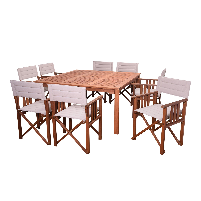 Beachcrest Home Elsmere Patio 9 Piece Dining Set