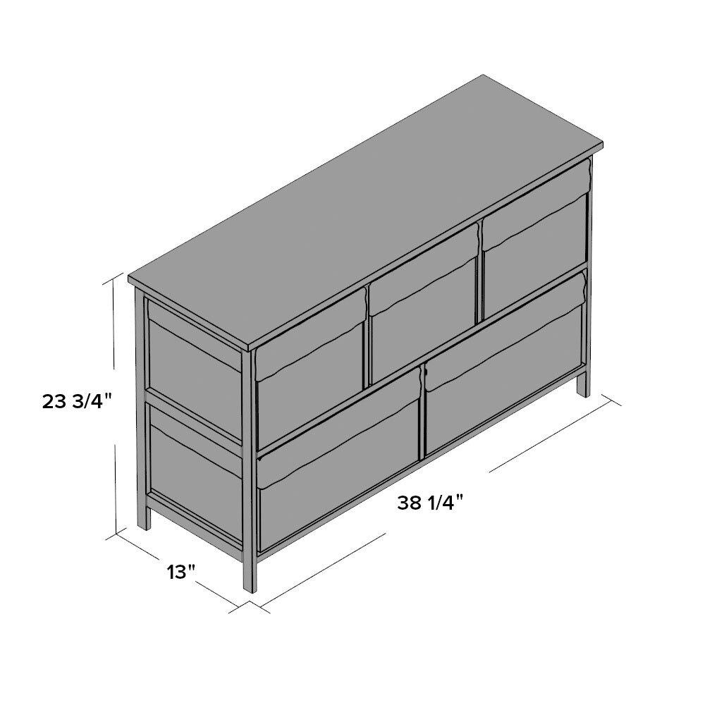 beachcrest home ana chase five wicker basket storage unit in espresso: white storage unit wicker