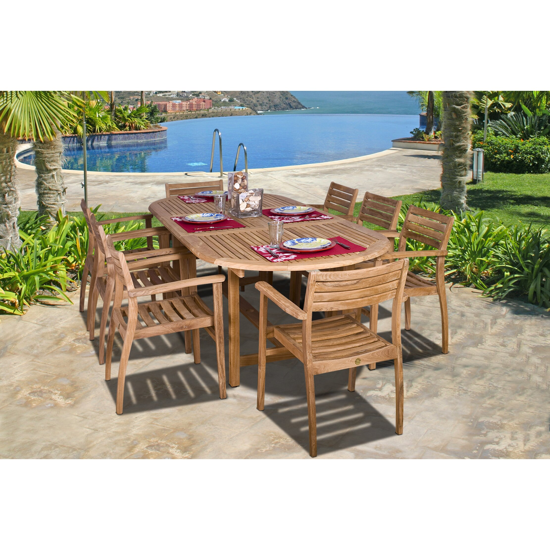 12 Seat Outdoor Dining Table Ten Person Patio Dining Sets Youll Love Wayfair