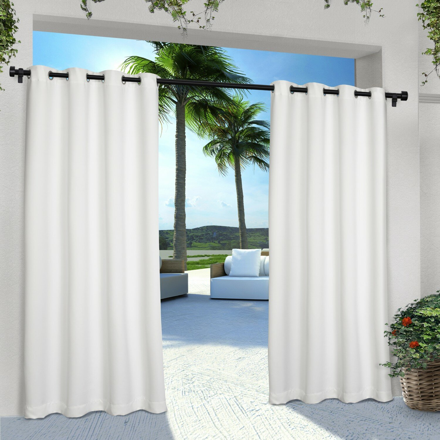 beachcrest home denton indoor outdoor curtain panels