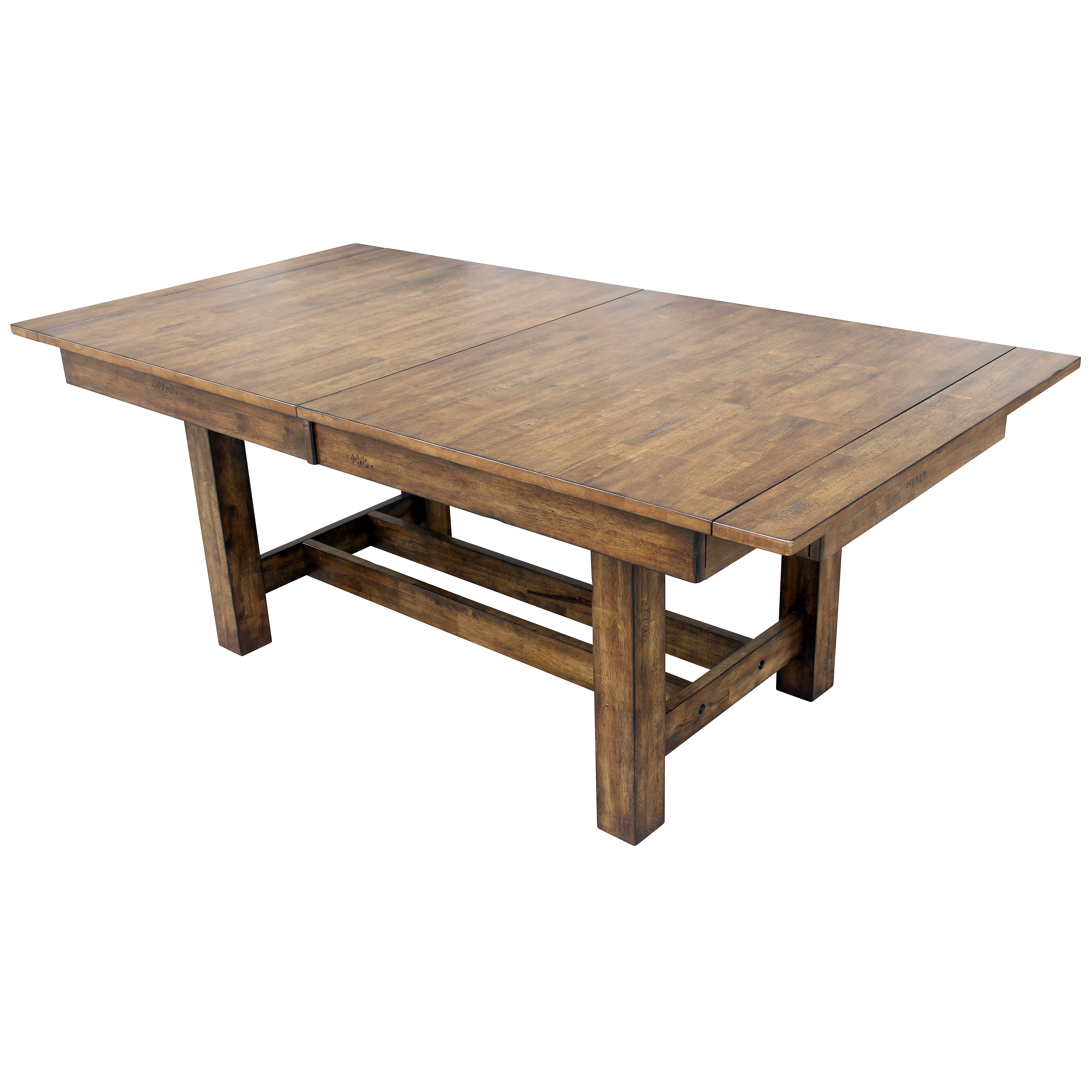 Tables rustic solid wood trestle pedestal base harvest dining table - Dining Room Table 1 Nottingham Solid Wood Trestle Pedestal Rectangular Simple Black Extendable Extendable Trestlesolid Wood