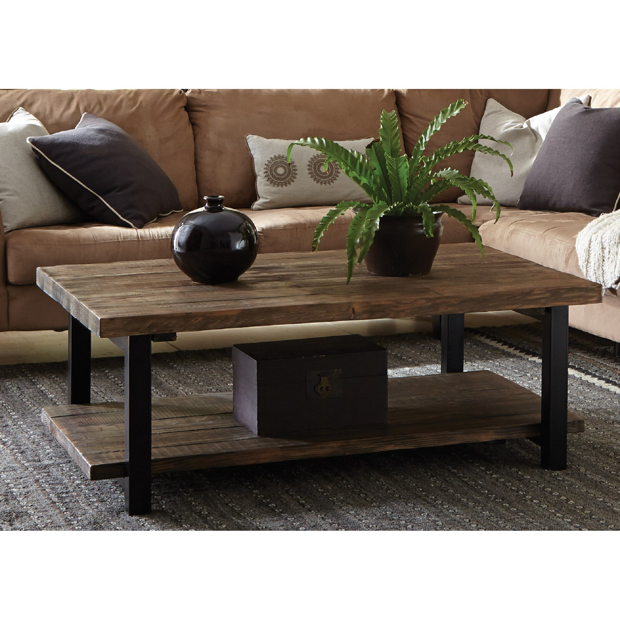 perfect wood metal glass coffee table