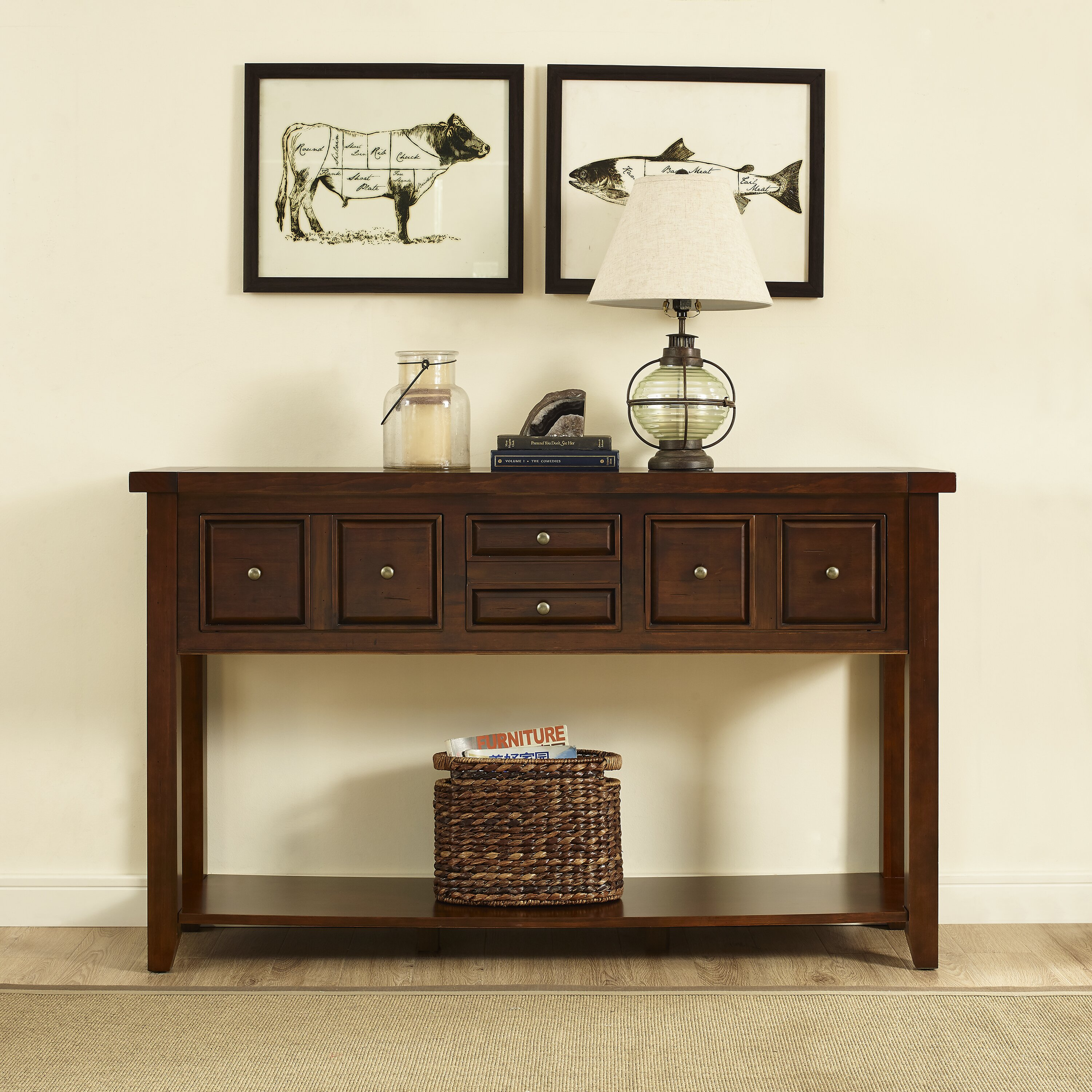Hallway Console Cabinet Cottage Country Console Sofa Tables Youll Love Wayfair