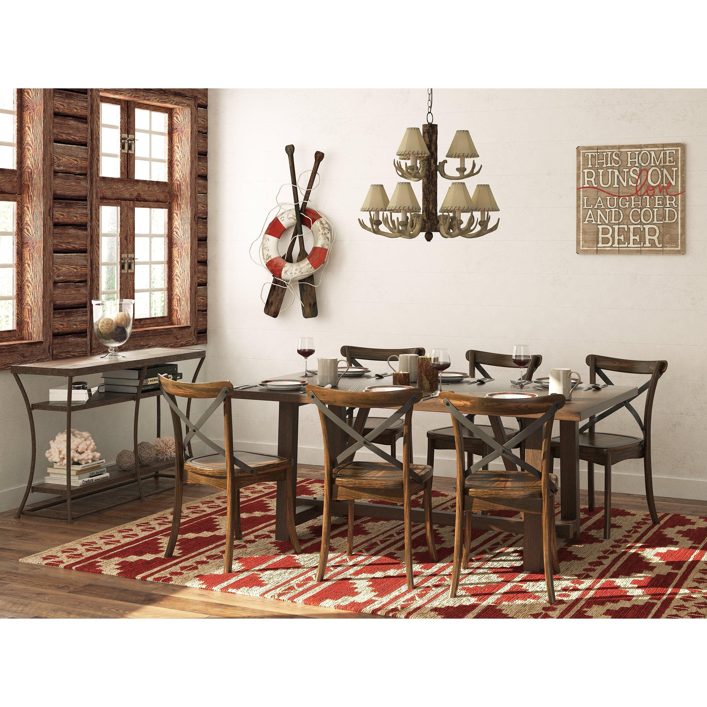 Loon Peak Massanutten Dining Table Amp Reviews Wayfair