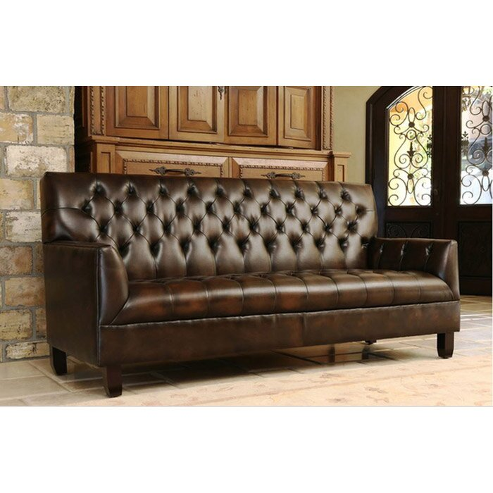 Loon Peak Clickett Bonded Leather Sofa & Reviews | Wayfair