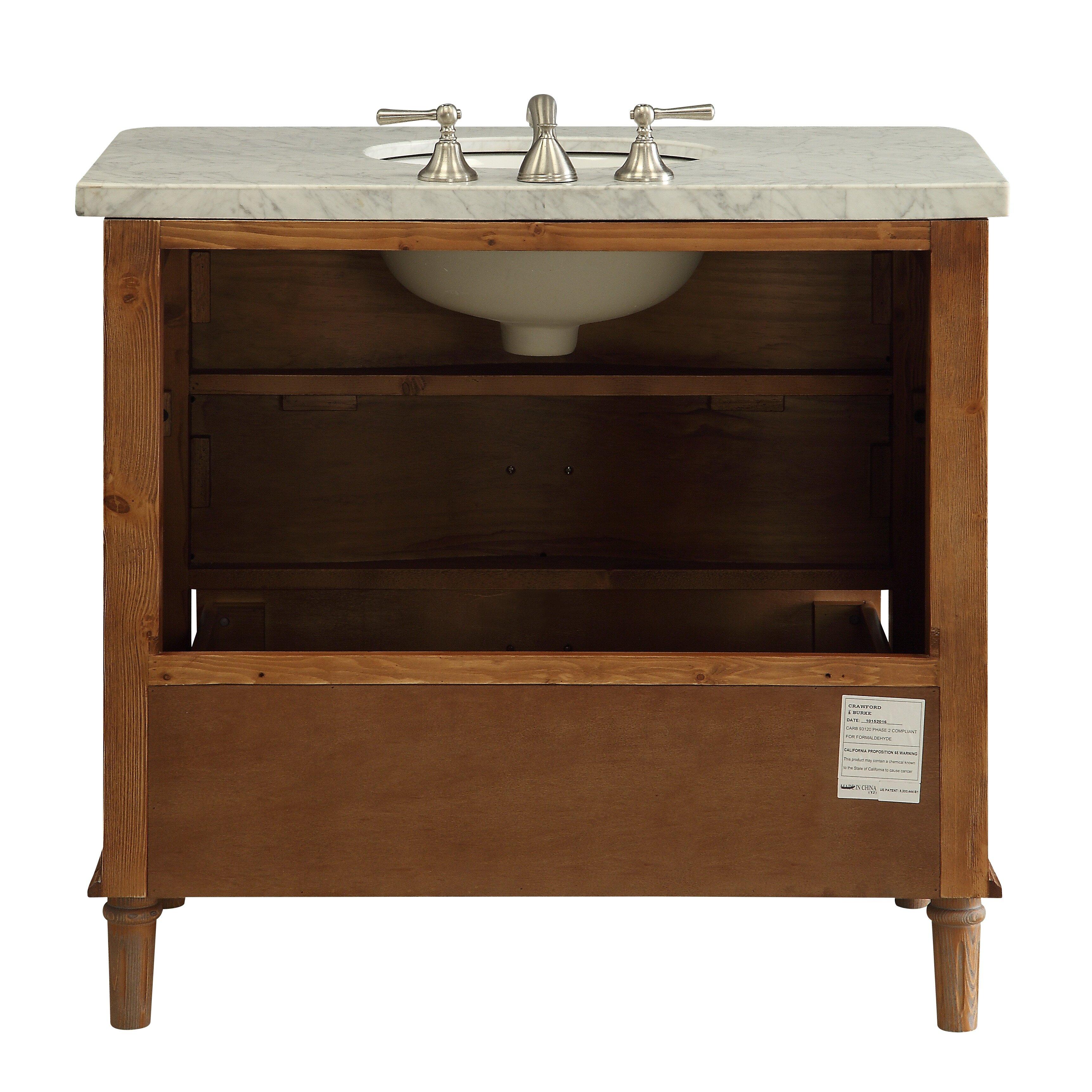 Loon Peak Vanna 36 Bathroom Vanity Set with Mirror Reviews – Bathroom Vanity and Mirror Set