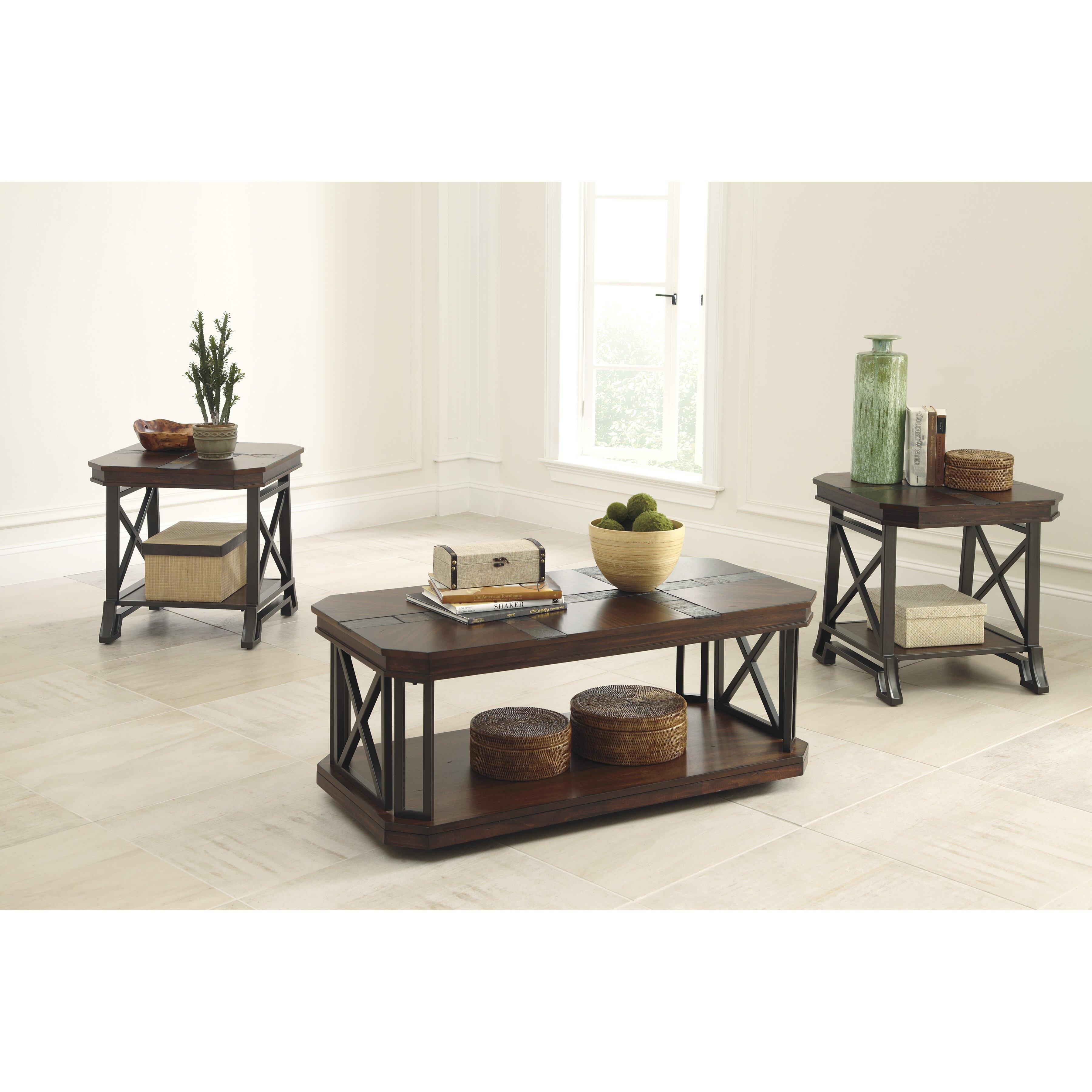 Three Piece Living Room Table Set Loon Peak Jesus 3 Piece Coffee Table Set Reviews Wayfair