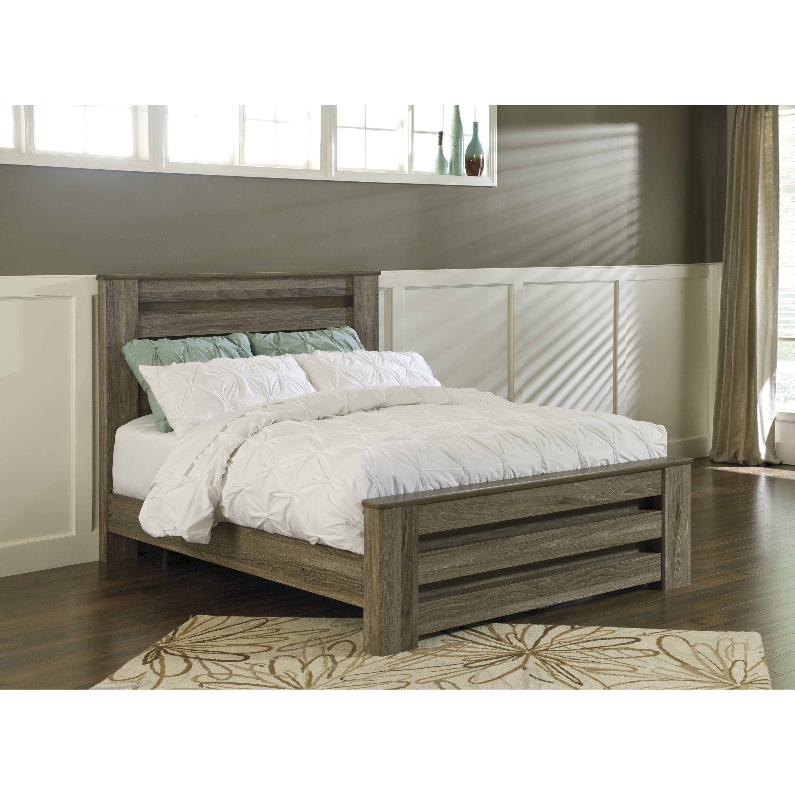 heather upholstered king bed frame in gray simply austin furniture - Bed Frames Austin