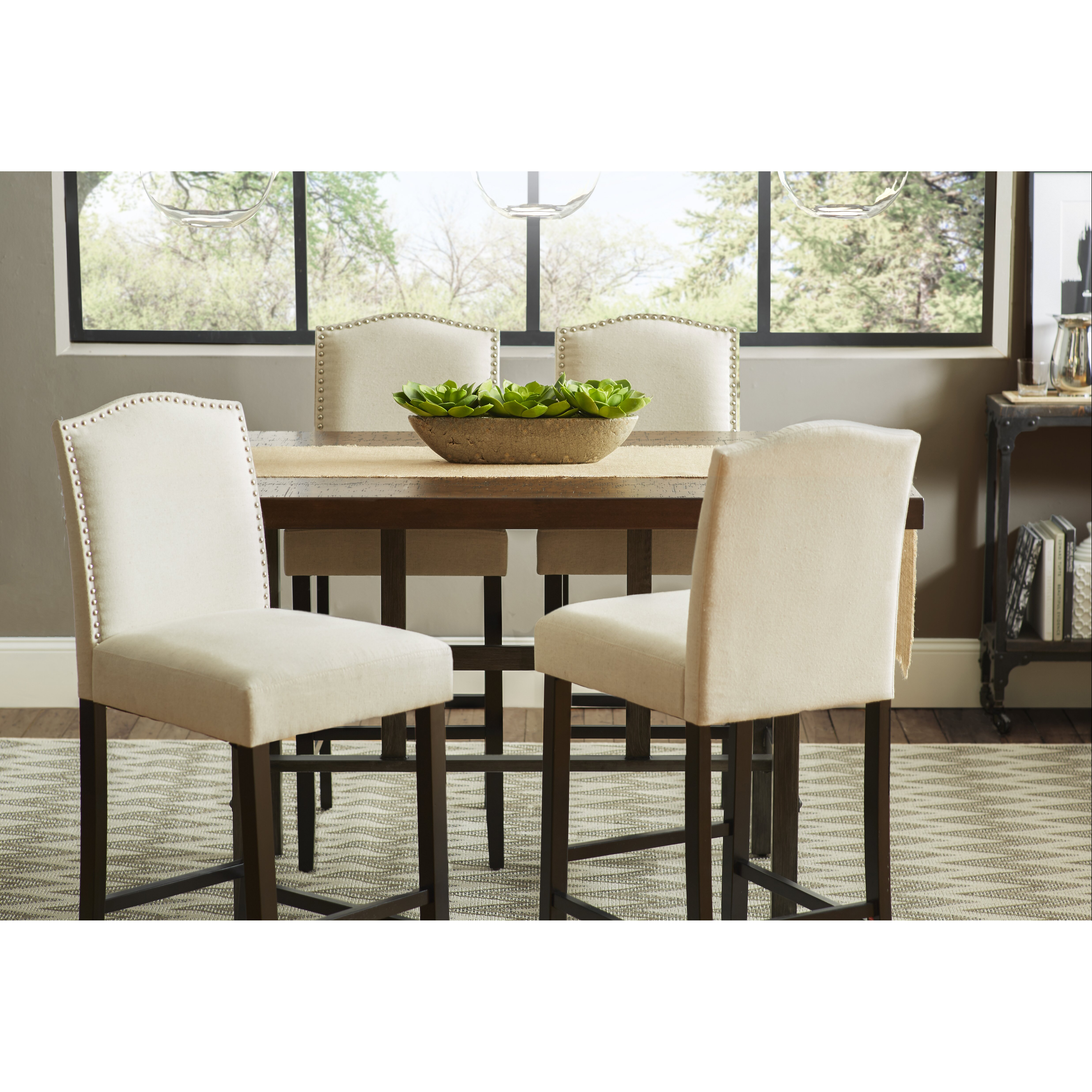 trent austin design broadview room counter dining table