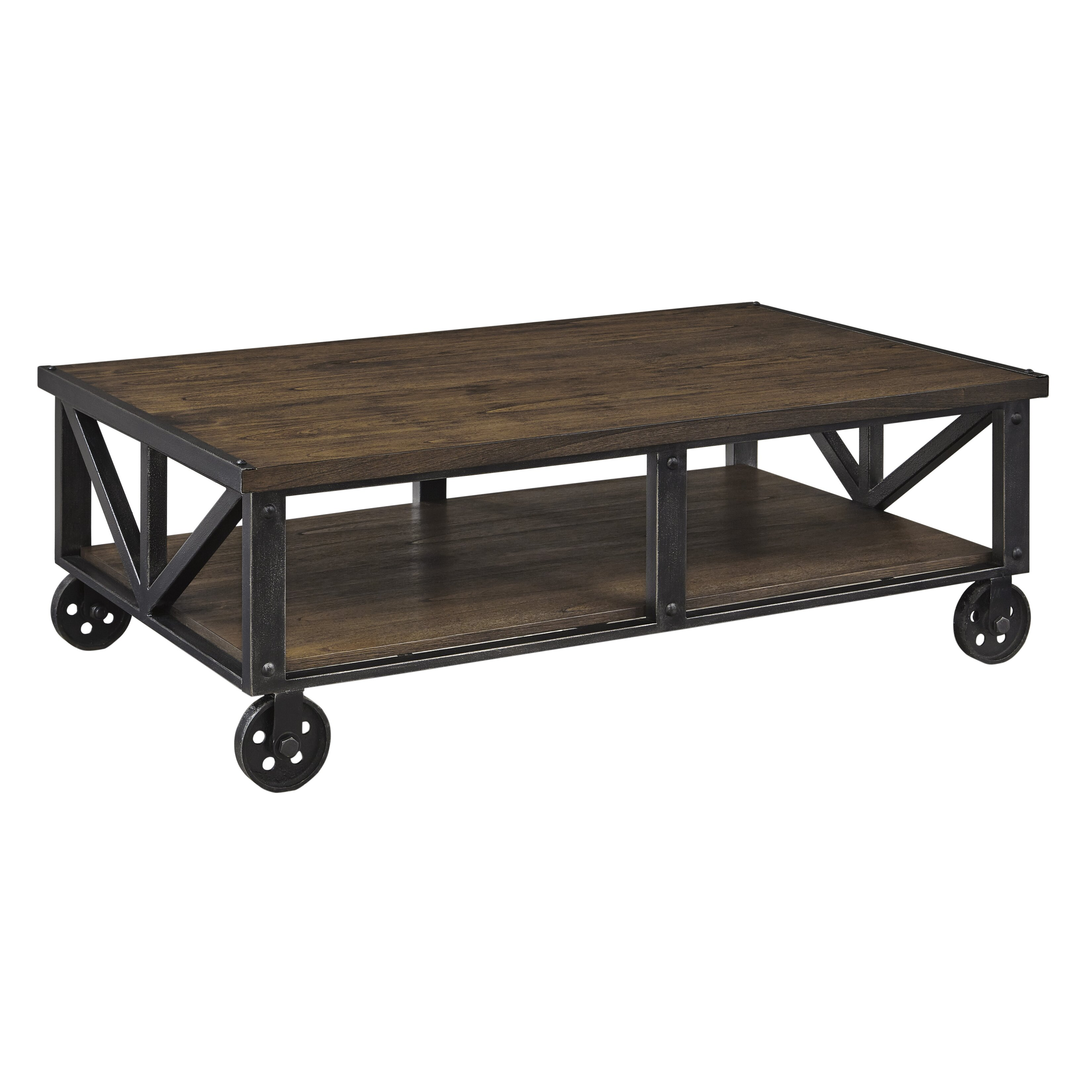 Mill Cart Coffee Table Industrial Coffee Tables Youll Love Wayfair