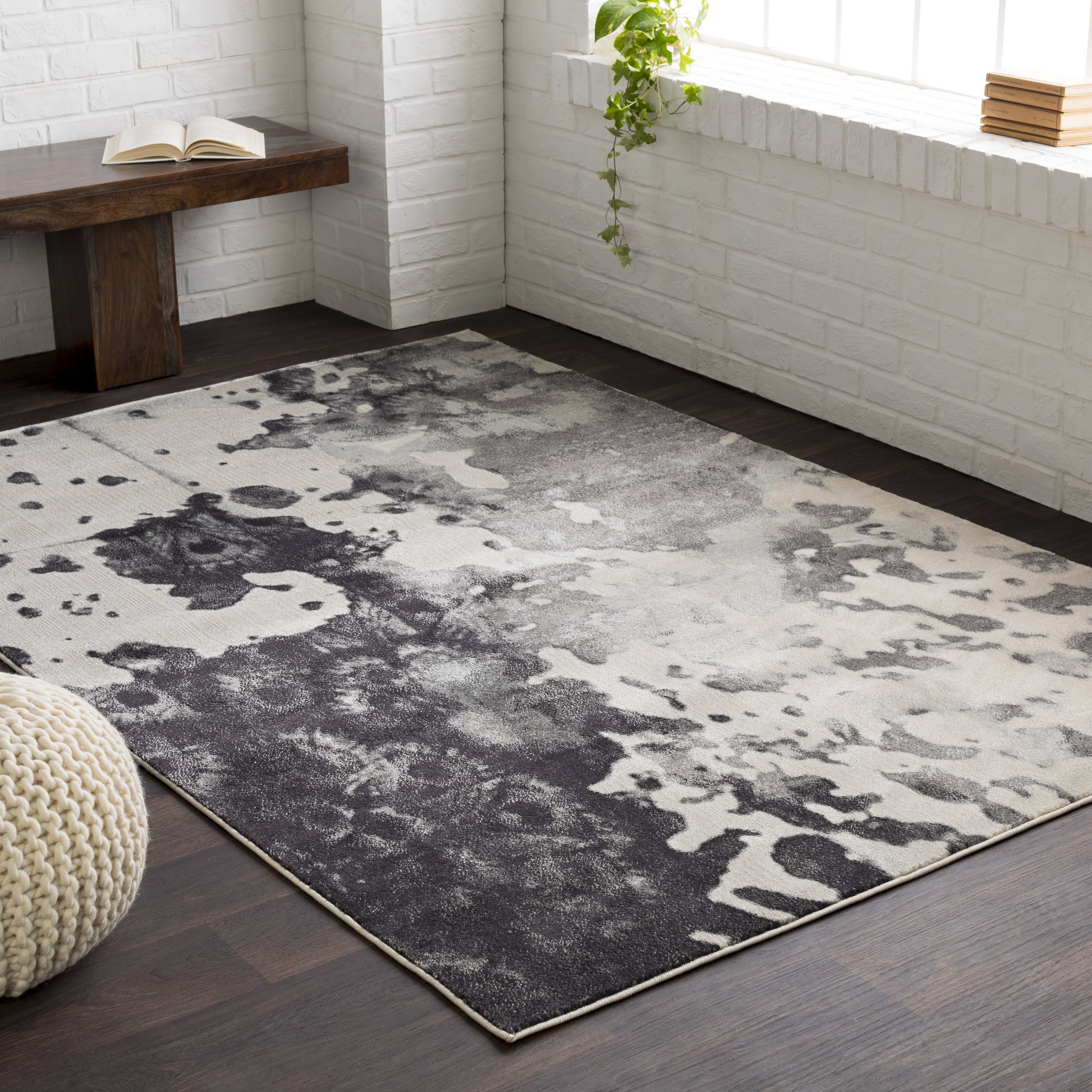 more area rug black shag graphite and rugs bryant shop collections