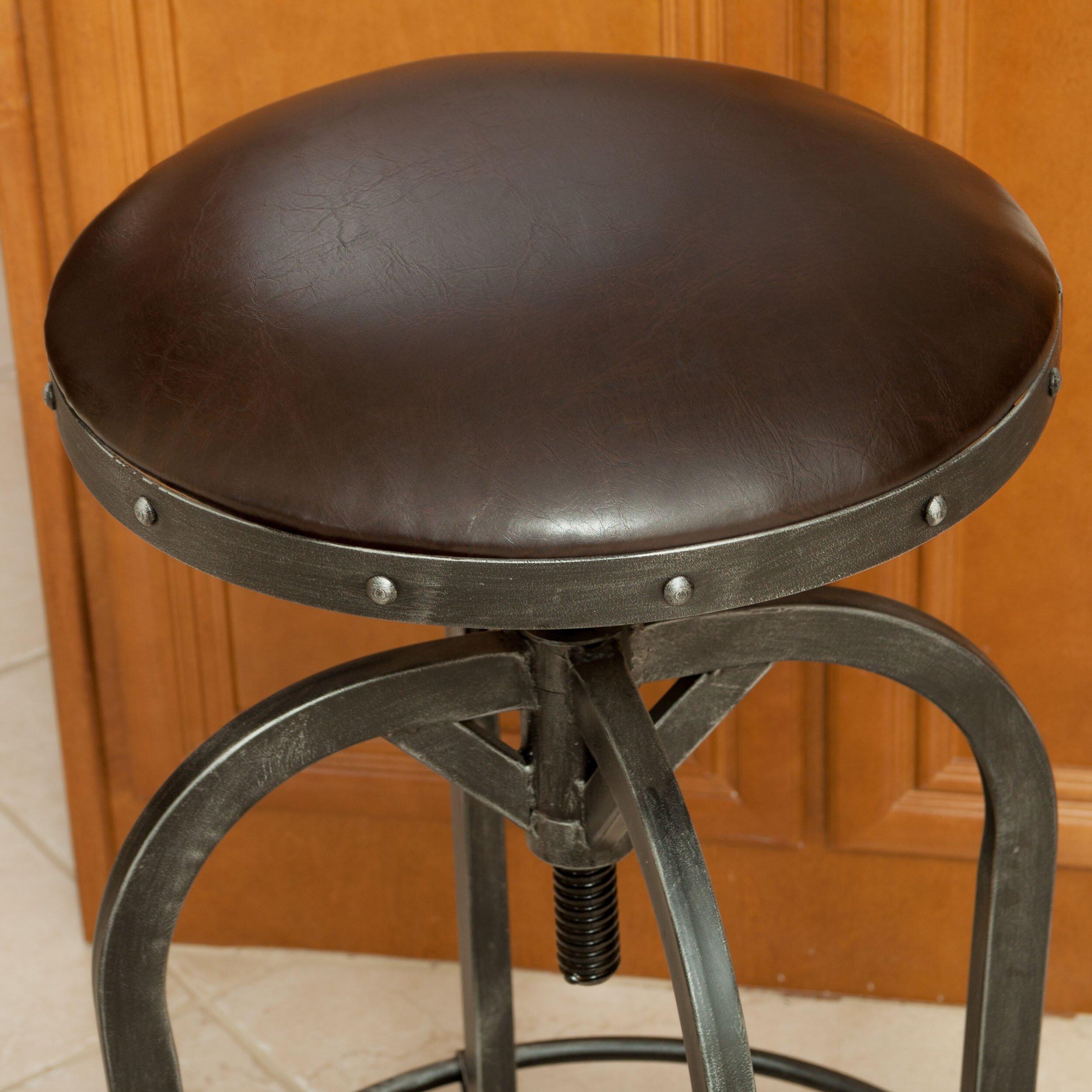 stress colored stool : Trent Austin Design Reg Mira Adjustable Height Swivel Bar Stool
