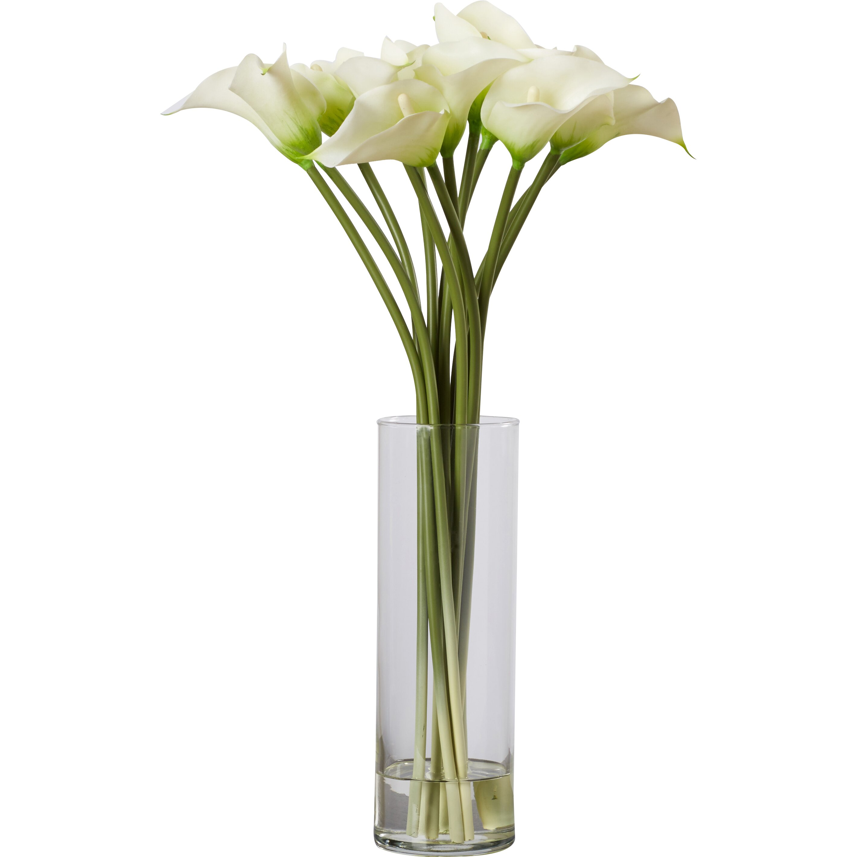 House of hampton calla lily flower arrangement in flower - Flower arrangements for vases ...