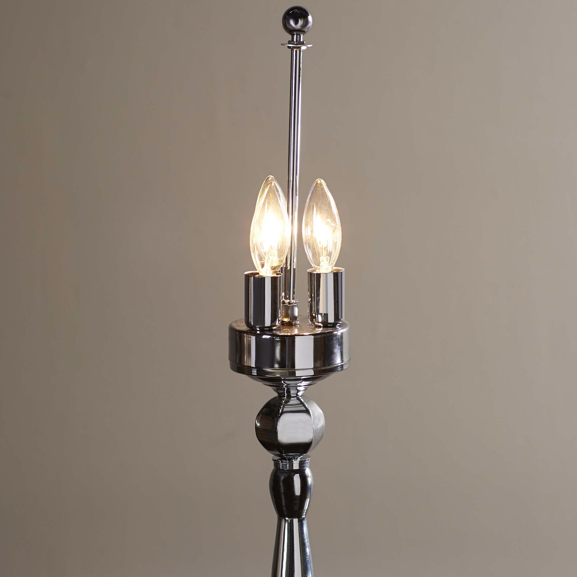 crystal chandelier table lamp with drum shade