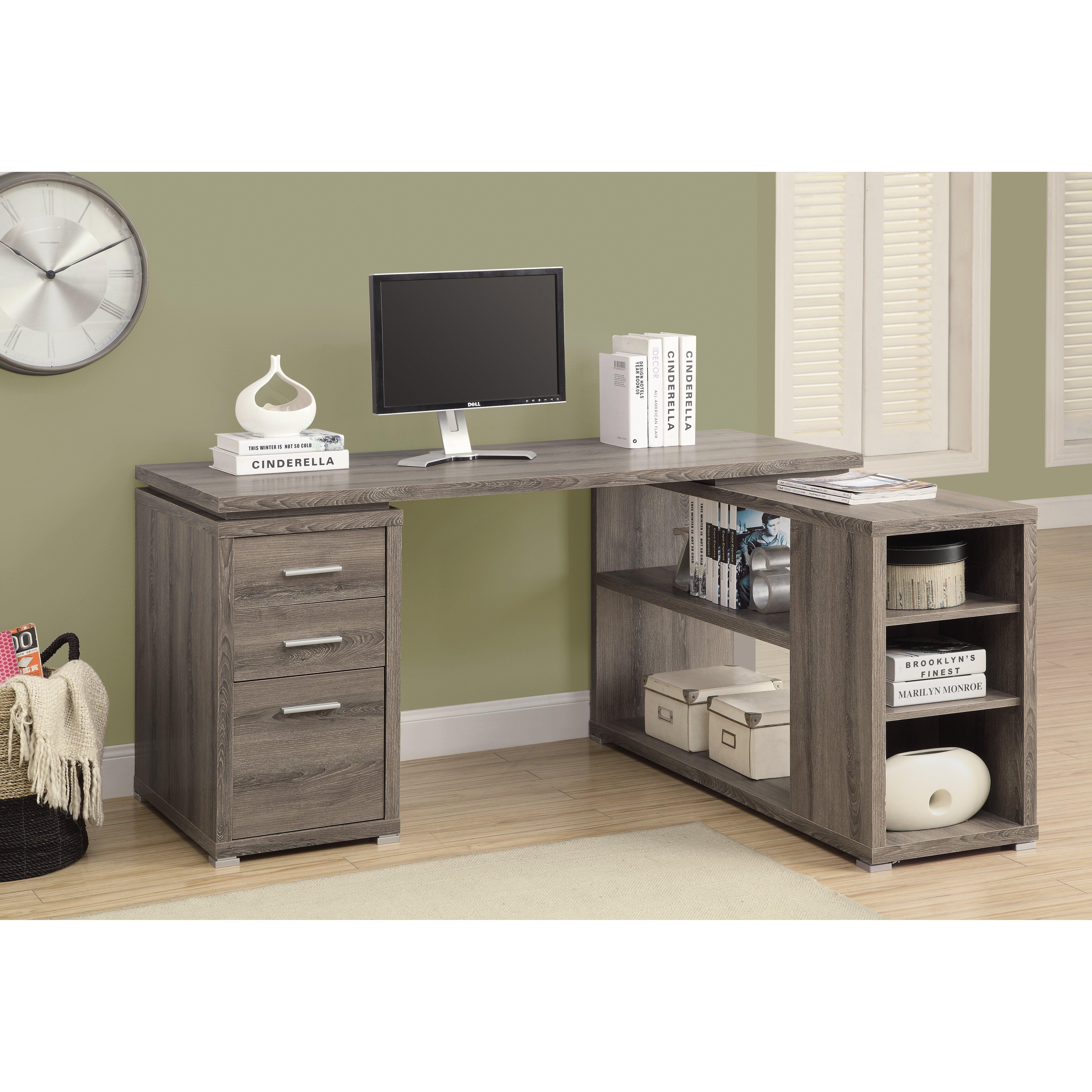 Charisse L-Shape Computer Desk & Reviews   AllModern