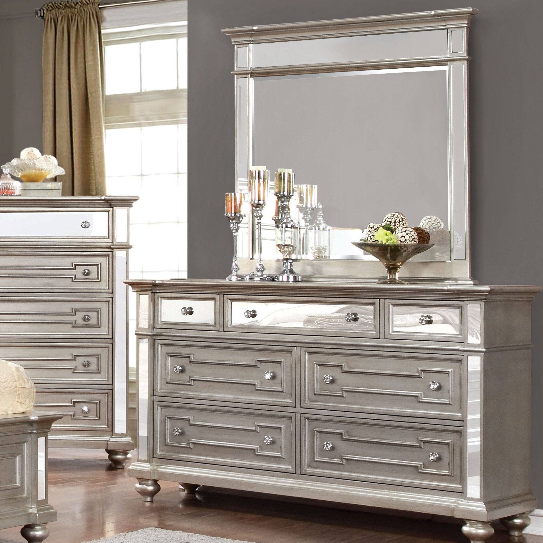 house of hampton aronson 7 drawer dresser with mirror - Aronson Furniture