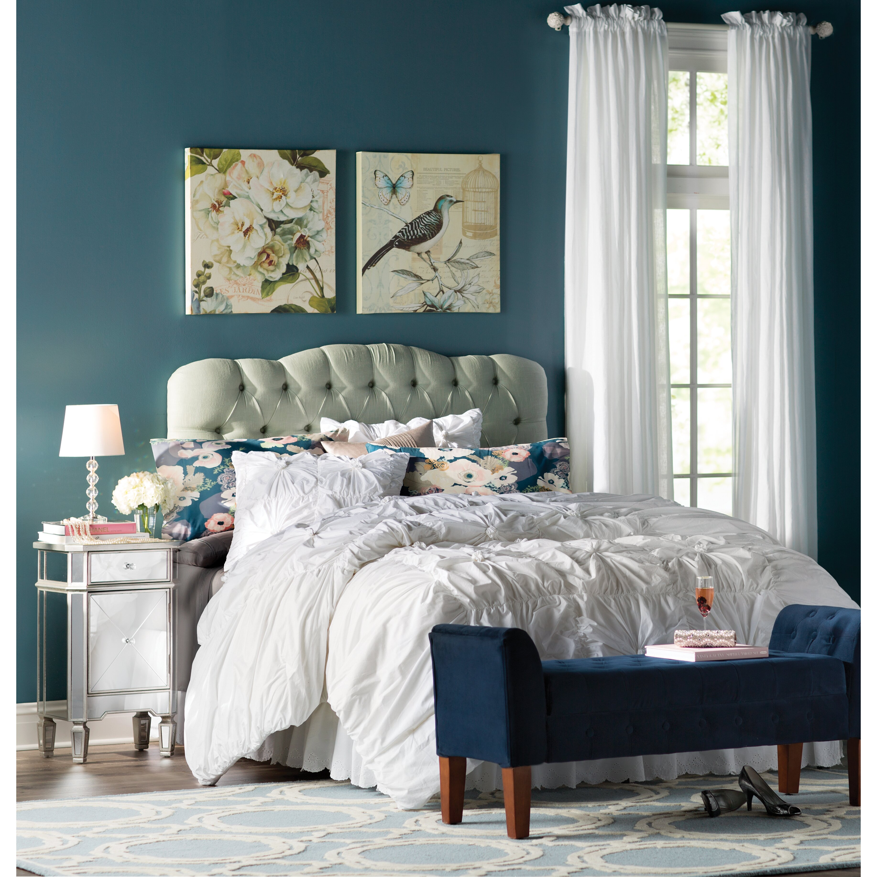 Mirrored Cabinets Bedroom House Of Hampton Rhiannon 1 Drawer Mirrored Cabinet Reviews
