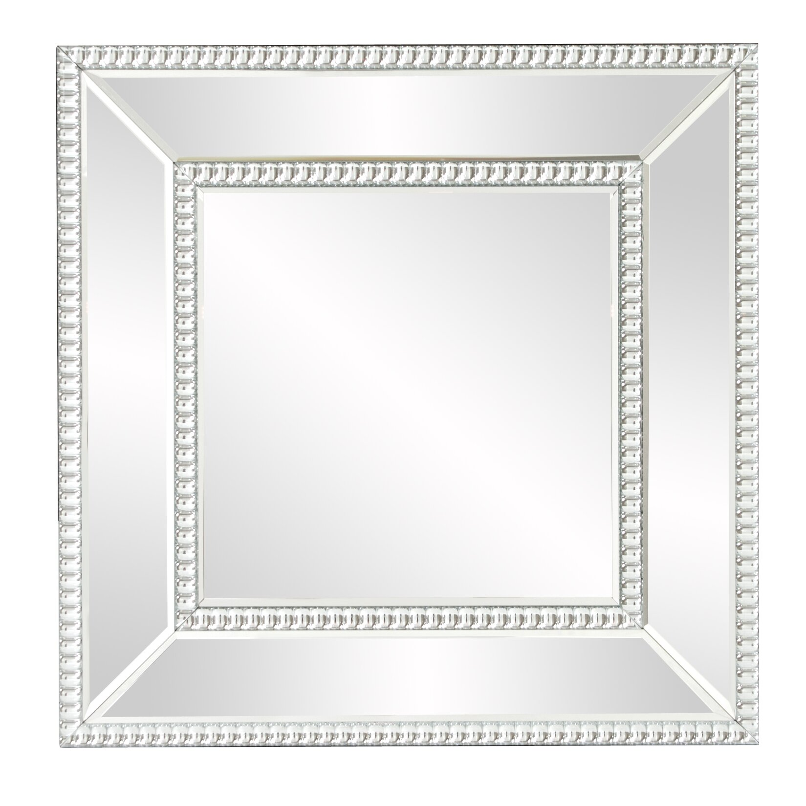 house of hampton mirrored frame wall mirror