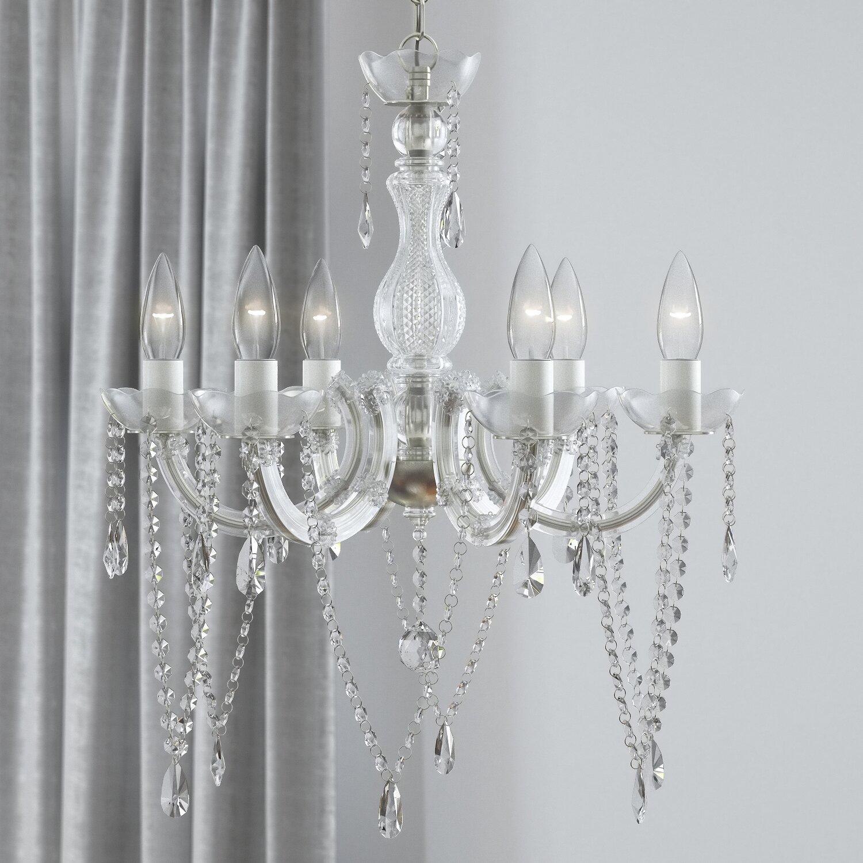 House of Hampton 6Light Crystal Chandelier Reviews – Crystal Chandelier Lights