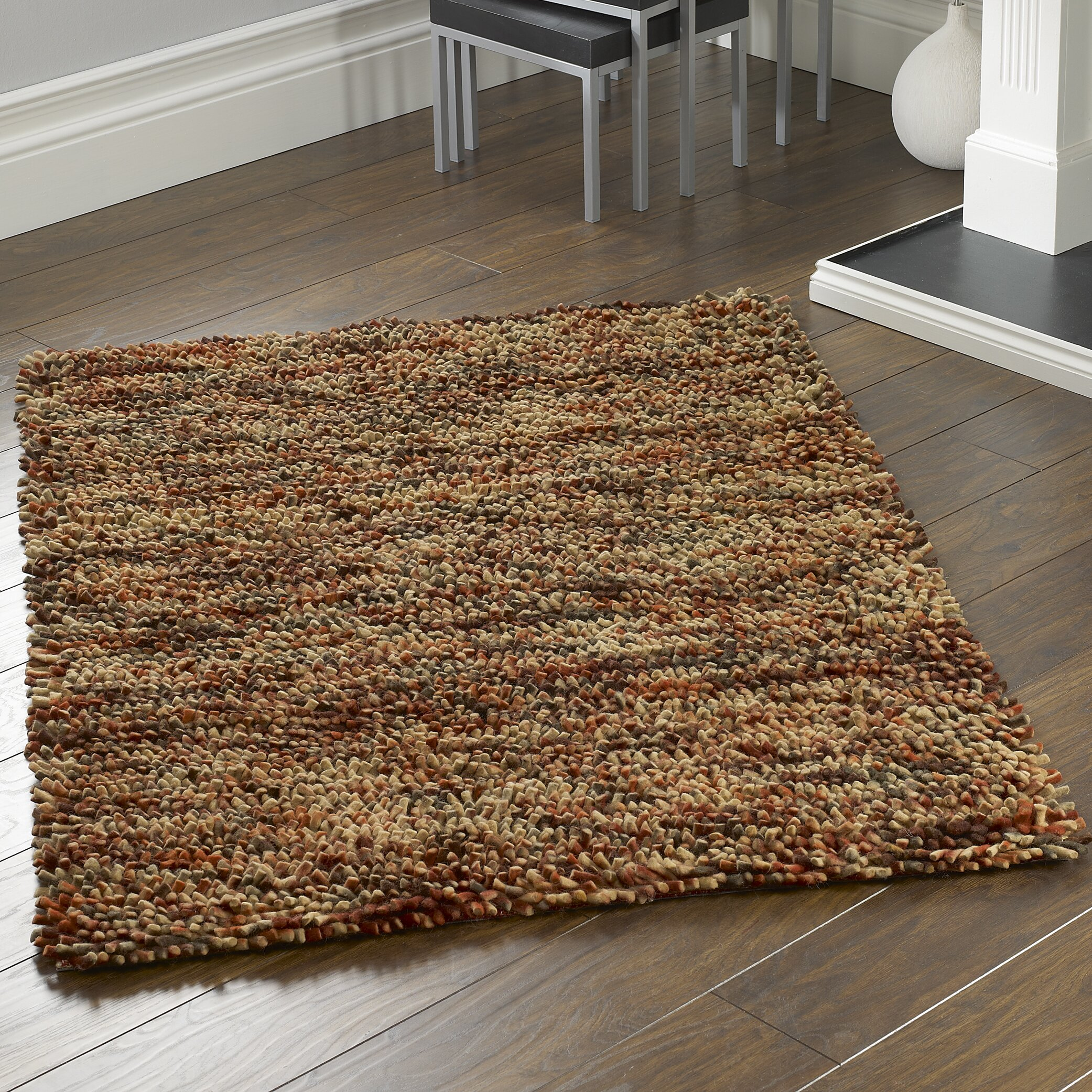Origins Jellybean Hand Woven Burnt Orange Area Rug