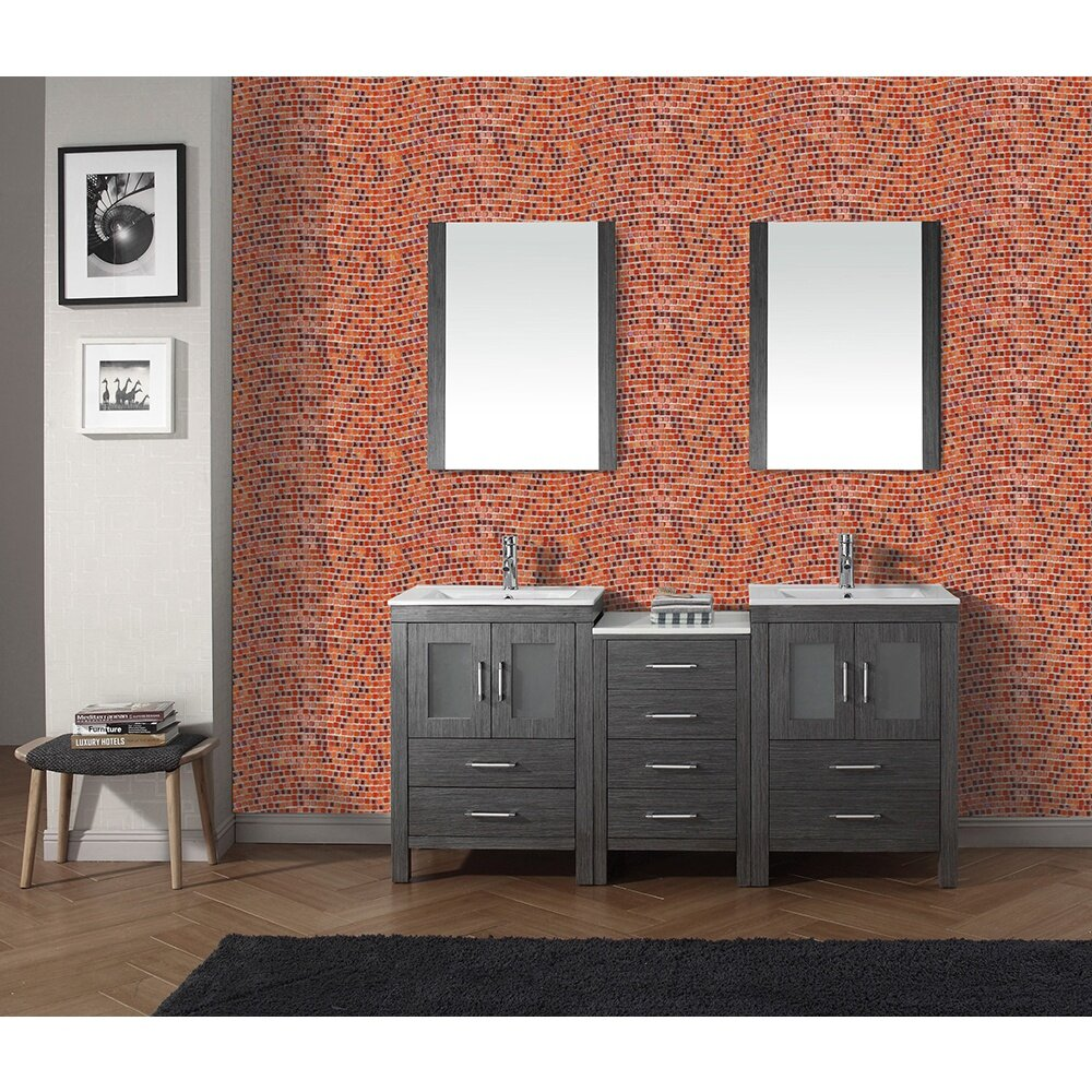 "Wavy Tile Bathroom: Abolos Galaxy Wavy 0.31"" X 0.31"" Glass Mosaic Tile In Red"