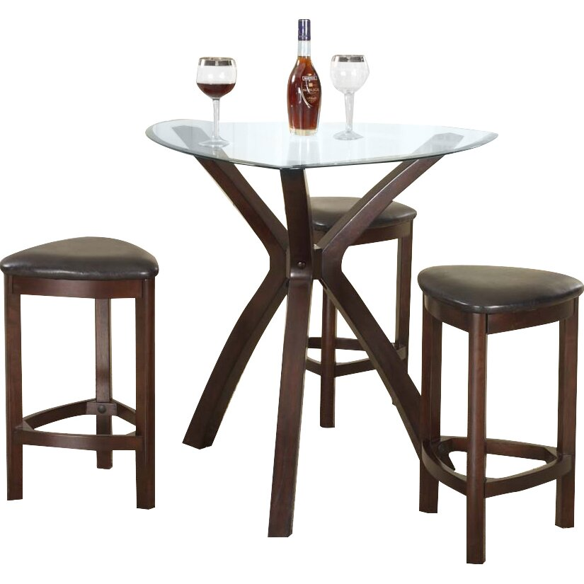 Counter Height Round Pub Table : Piece Counter Height Pub Table Set by Roundhill Furniture