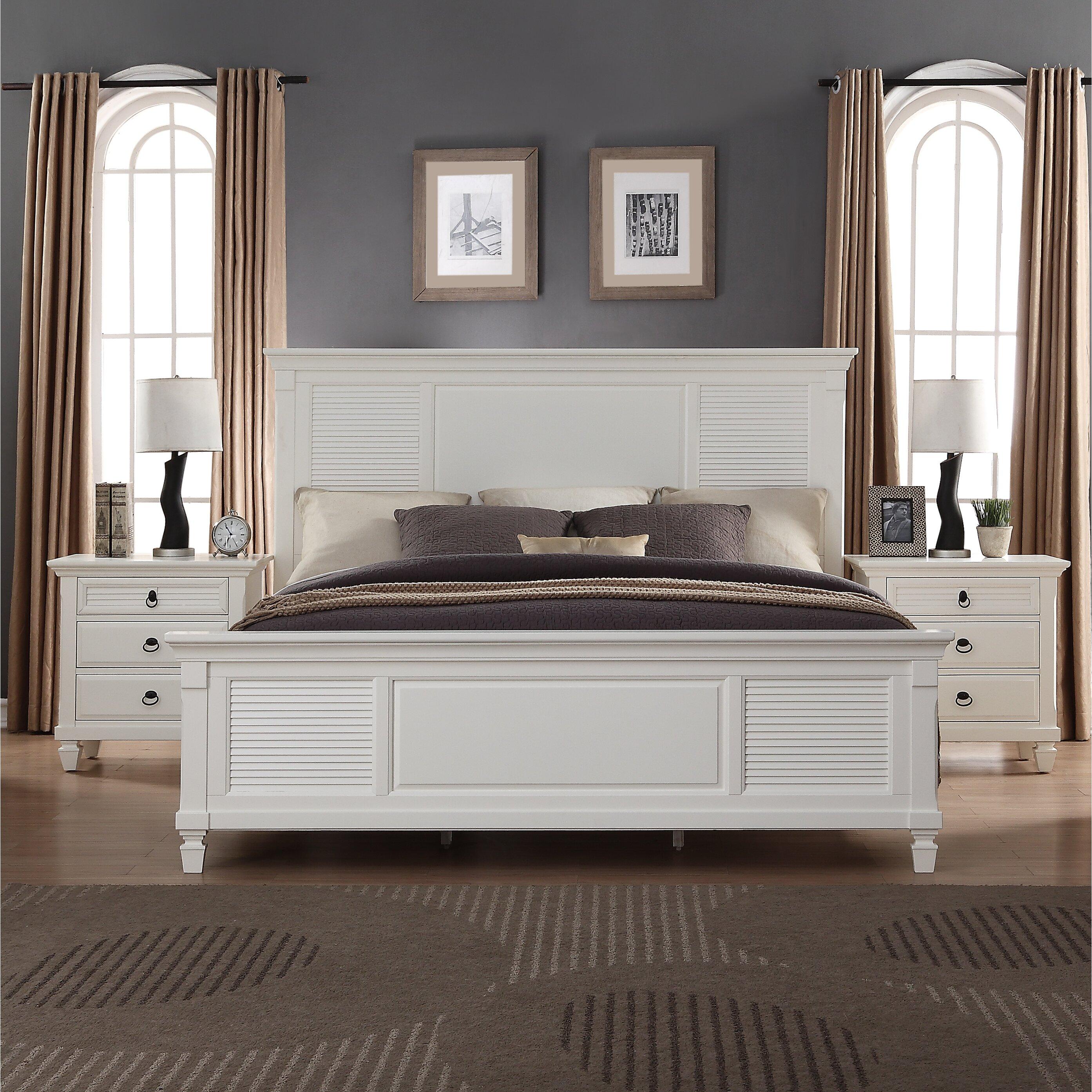 roundhill furniture regitina panel 4 piece bedroom set | wayfair