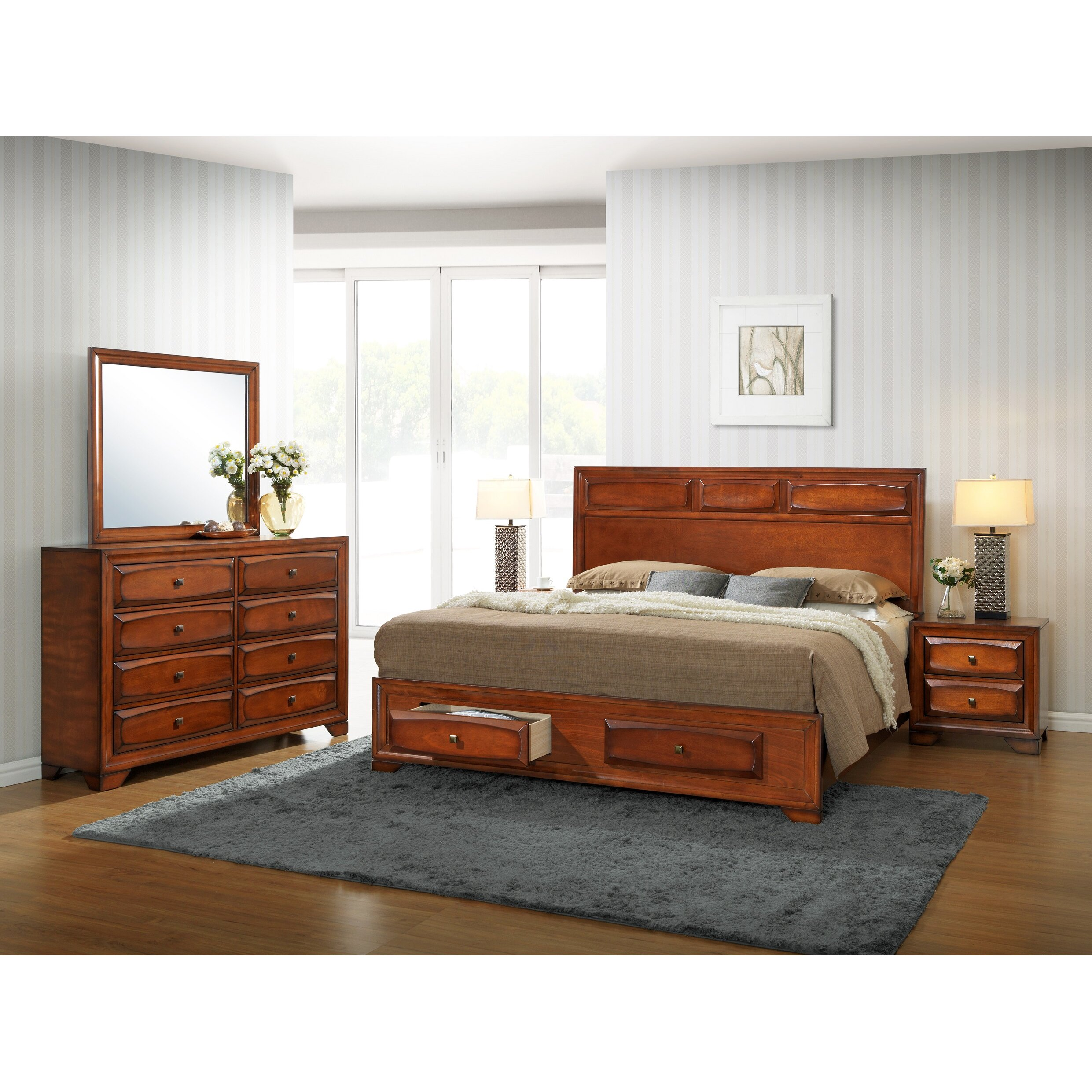 Furniture Store Oakland: Roundhill Furniture Oakland Platform Bedroom Set