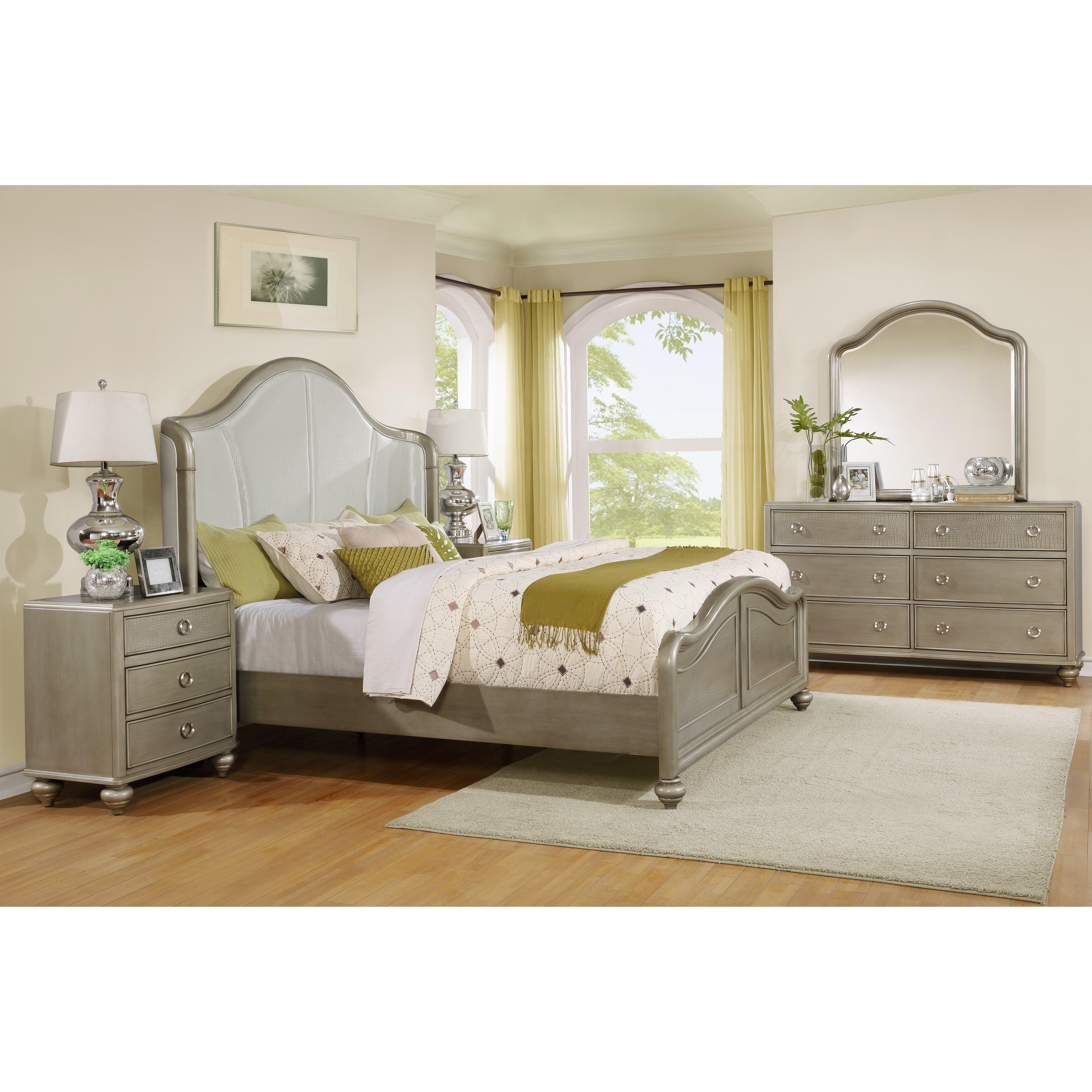 roundhill furniture aiden platform 5 piece bedroom set