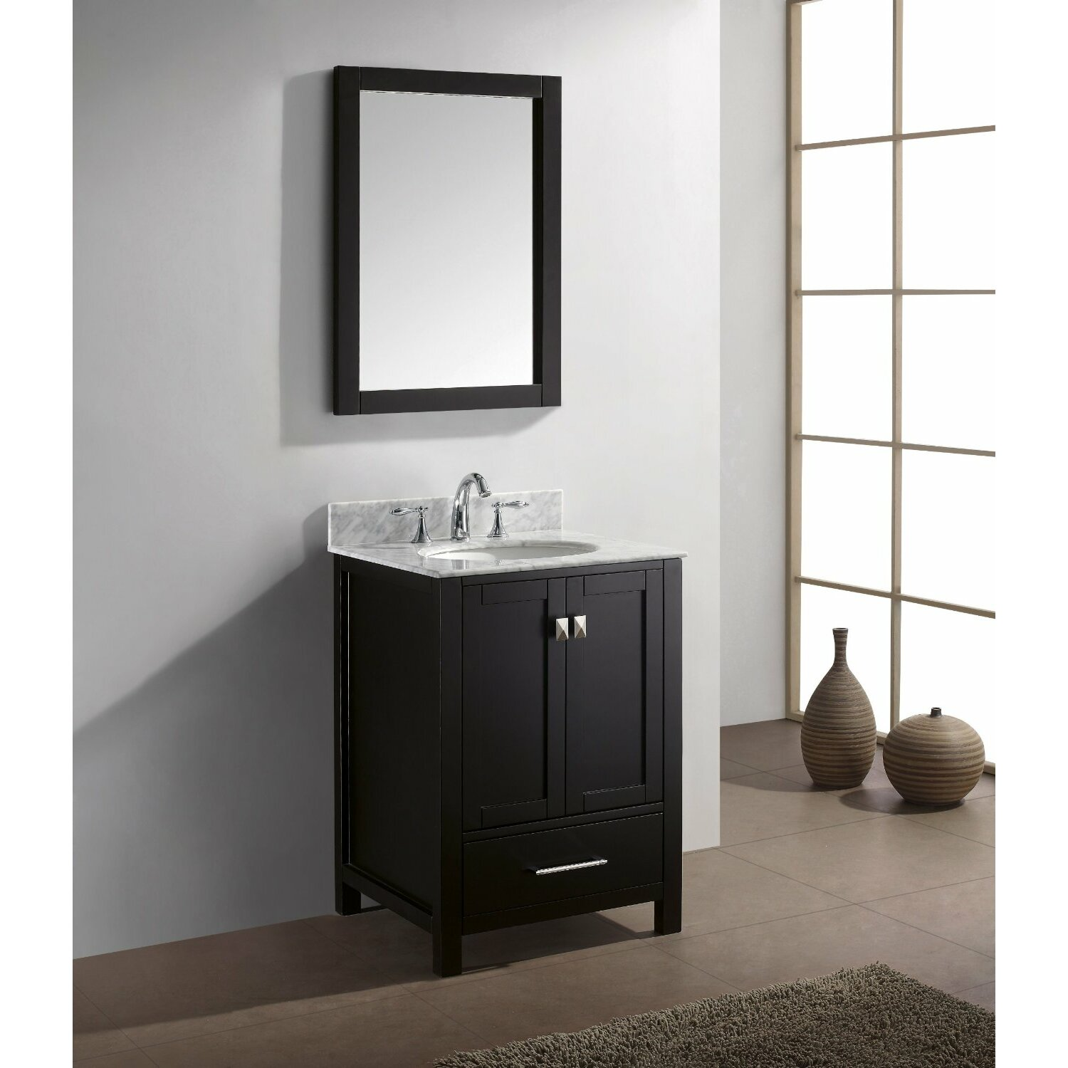 Bathroom Single Vanity Eviva Aberdeen 24 Single Bathroom Vanity Set Reviews Wayfair
