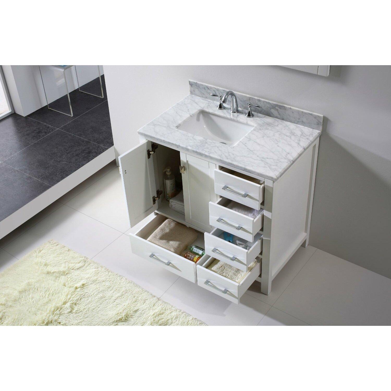 Just Cabinets Aberdeen Eviva Aberdeen 36 Single Bathroom Vanity Set Reviews Wayfair