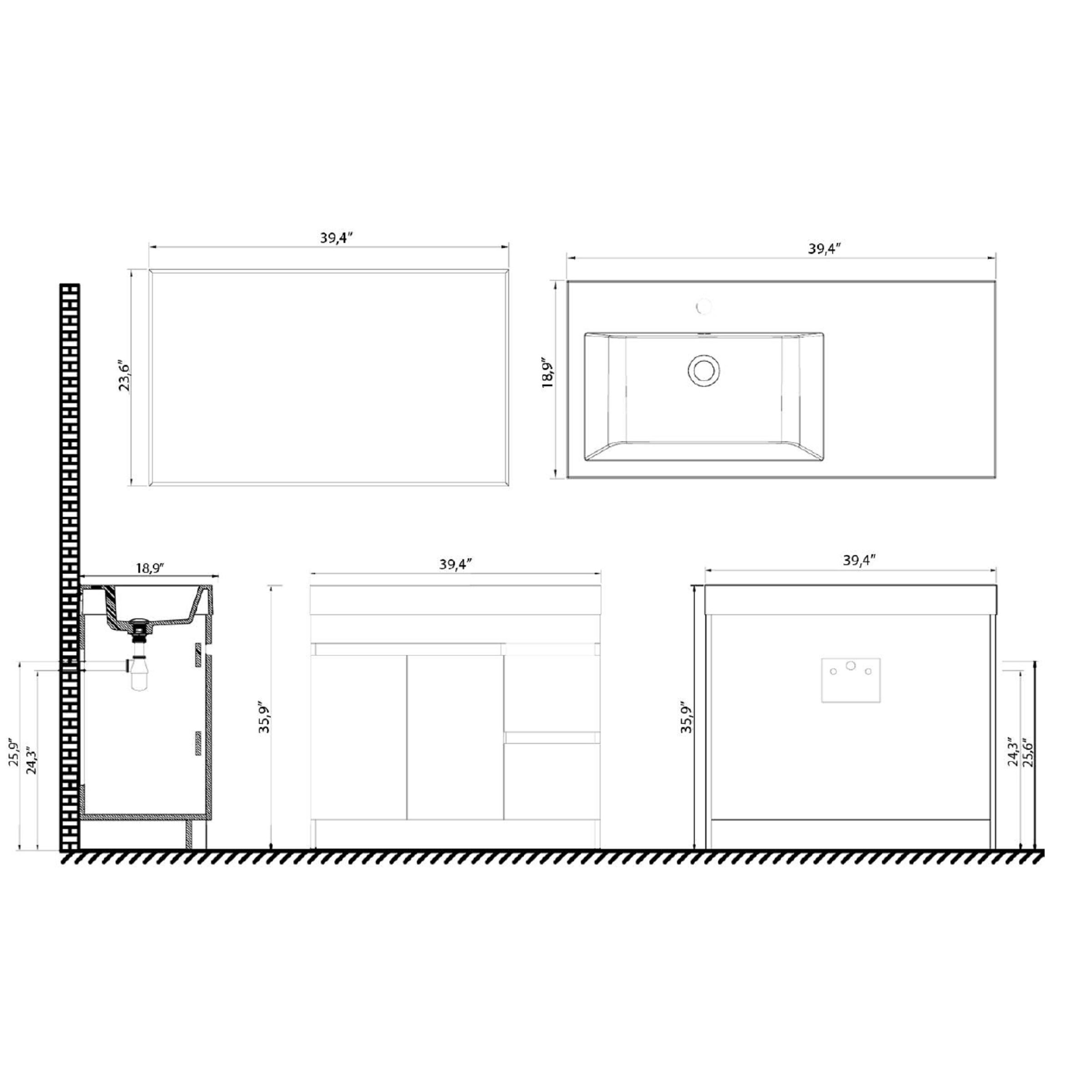 39 Bathroom Vanity Eviva Beachar 39 Single Bathroom Vanity Set Reviews Wayfair