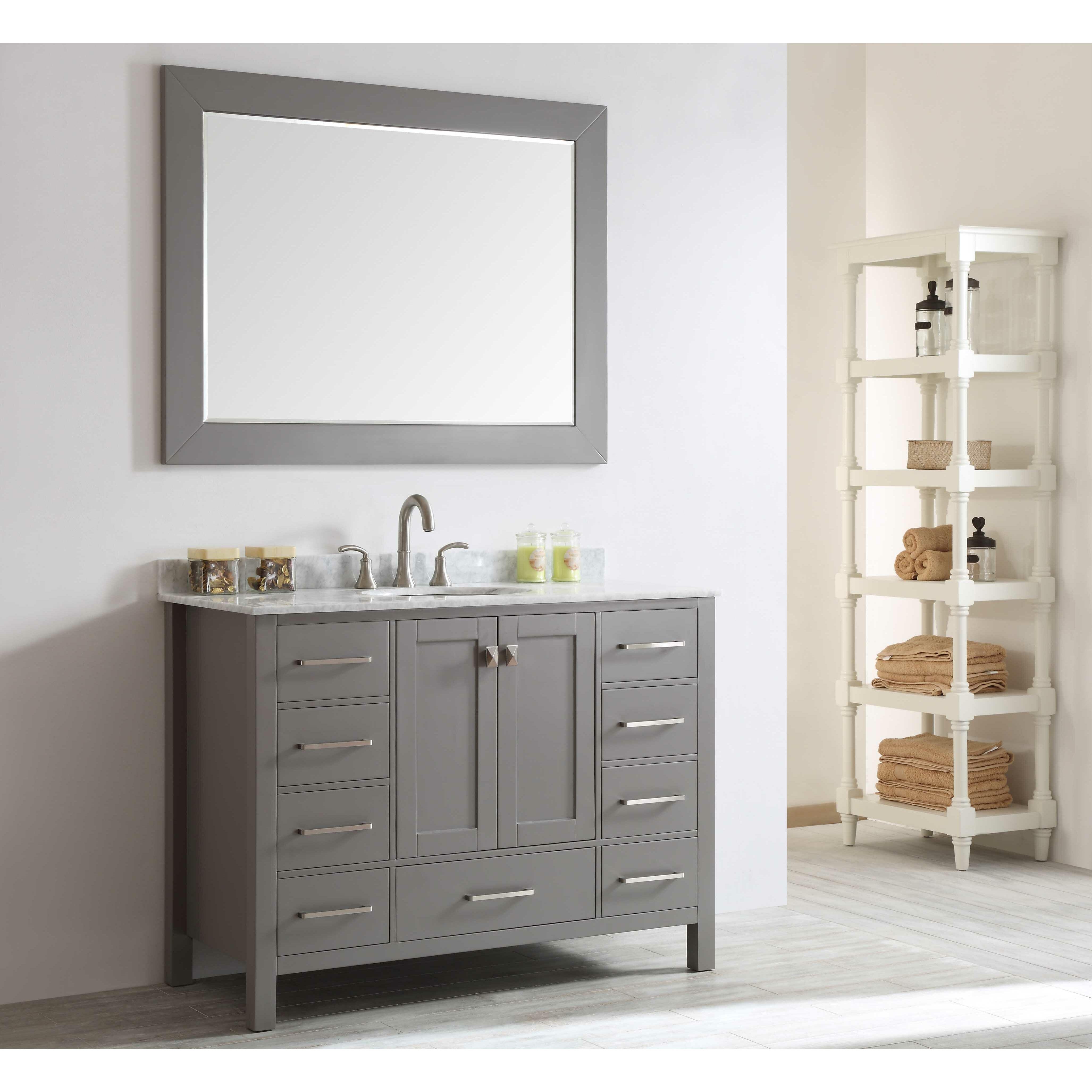 Just Cabinets Aberdeen Eviva Aberdeen 48 Single Bathroom Vanity Set Reviews Wayfair