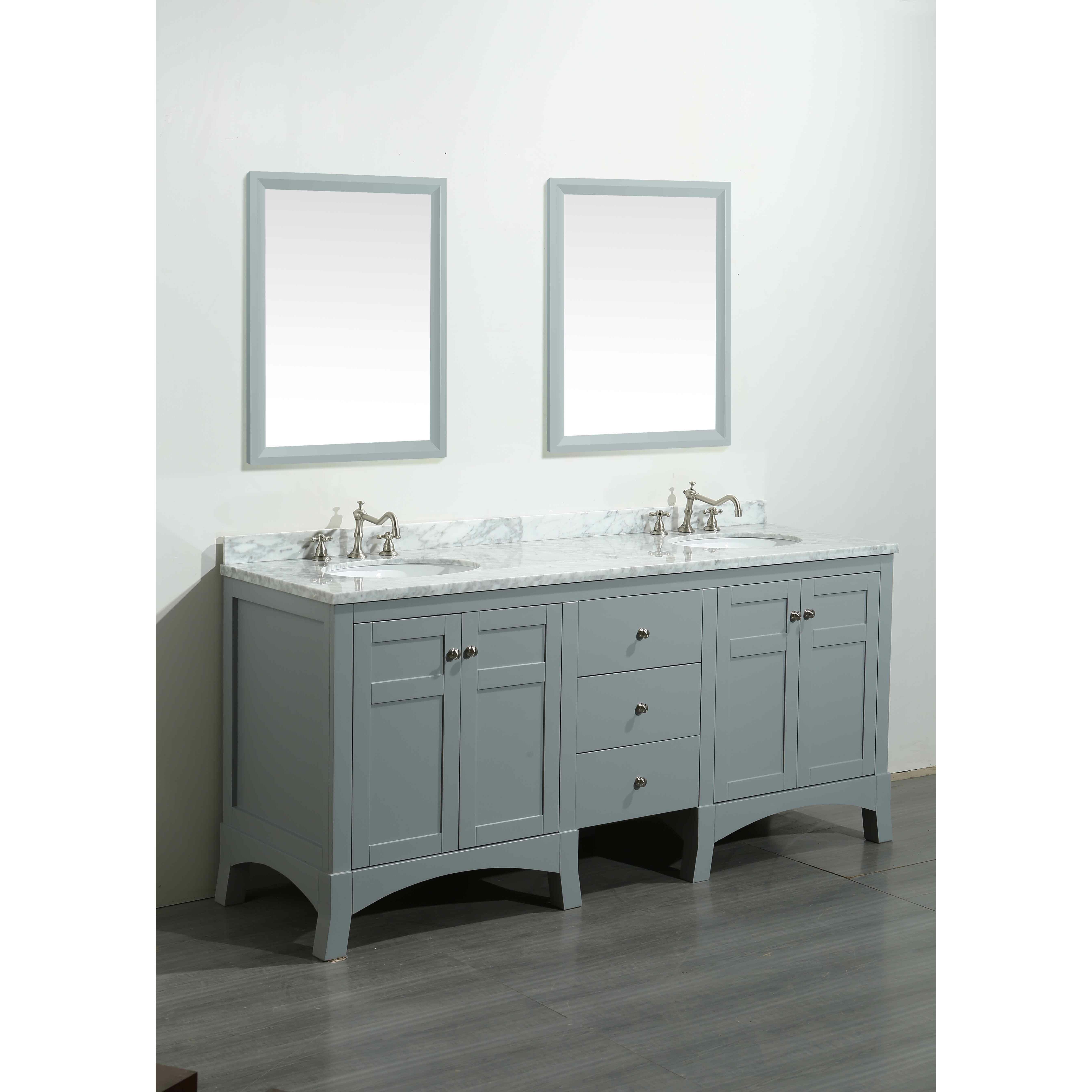 Bathroom Vanity Set Eviva New York 72 Double Bathroom Vanity Set Reviews Wayfair
