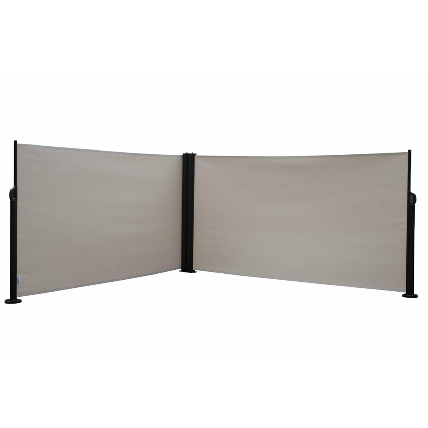Abba patio 62 4 x 236 4 retractable folding screen fence for Retractable room divider residential